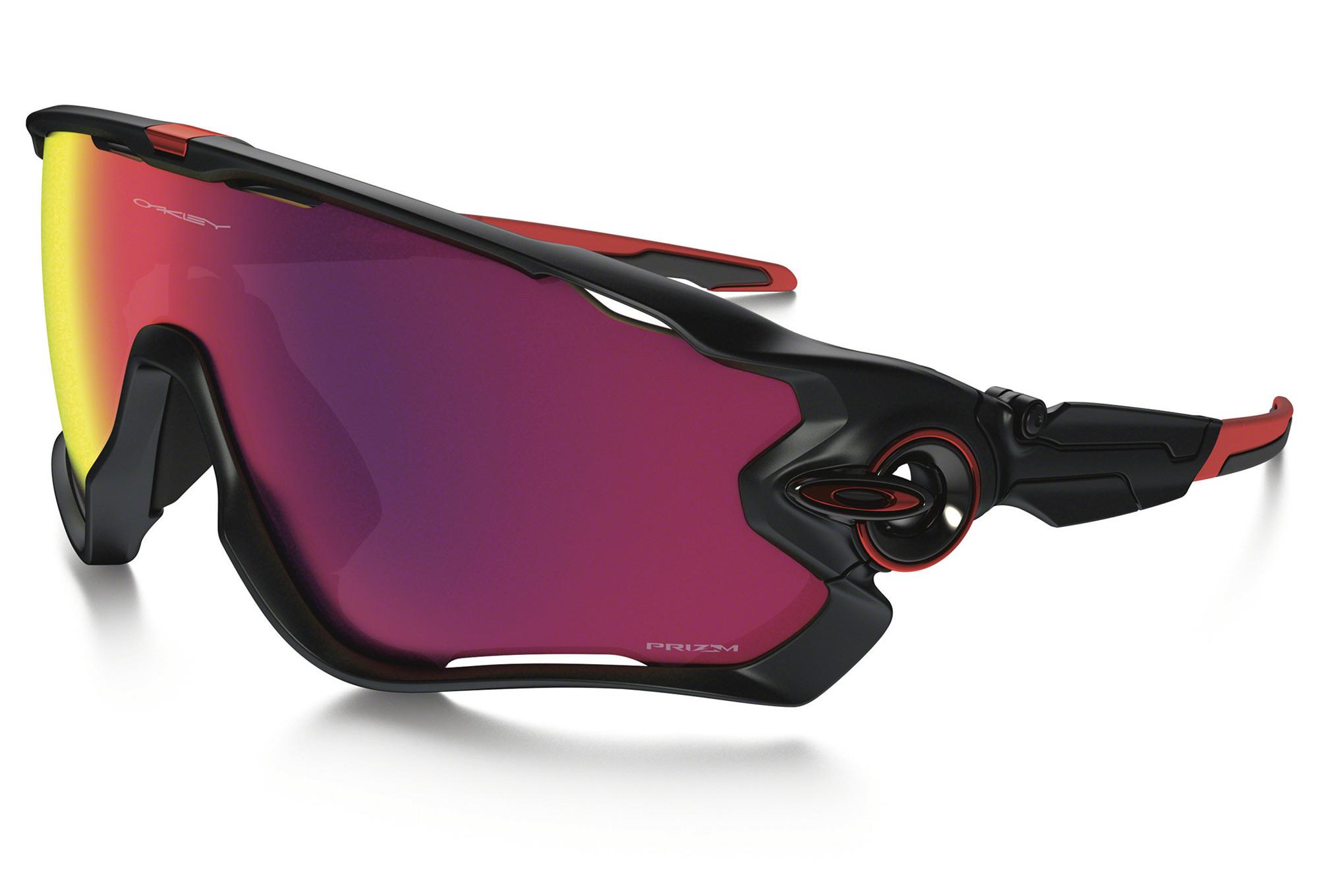 Oakley Jawbreaker Sunglasses Black Red Prizm Road Ref