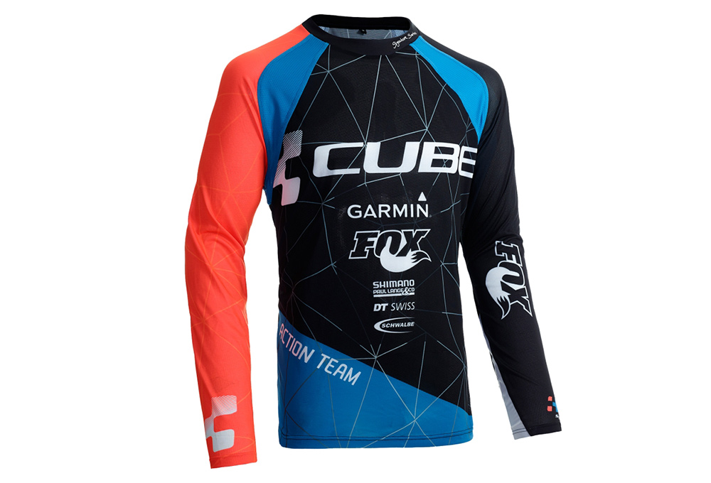 c8926aec537 Cube ACTION Signature Jersey L/S Black Red Blue | Alltricks.com