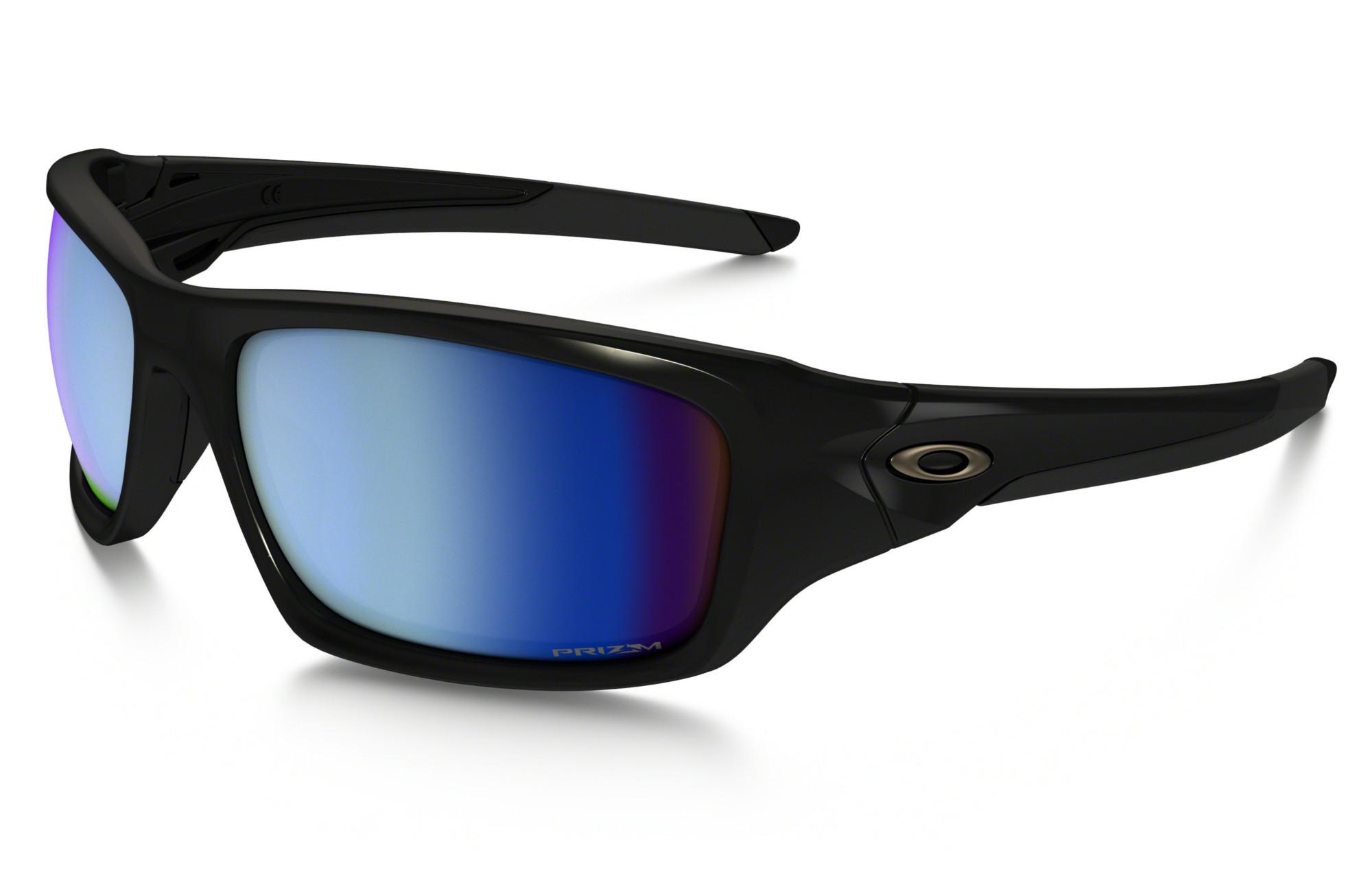 OAKLEY VALVE Sunglasses Black Blue Prizm Deep Water Polarized Ref OO9236 19