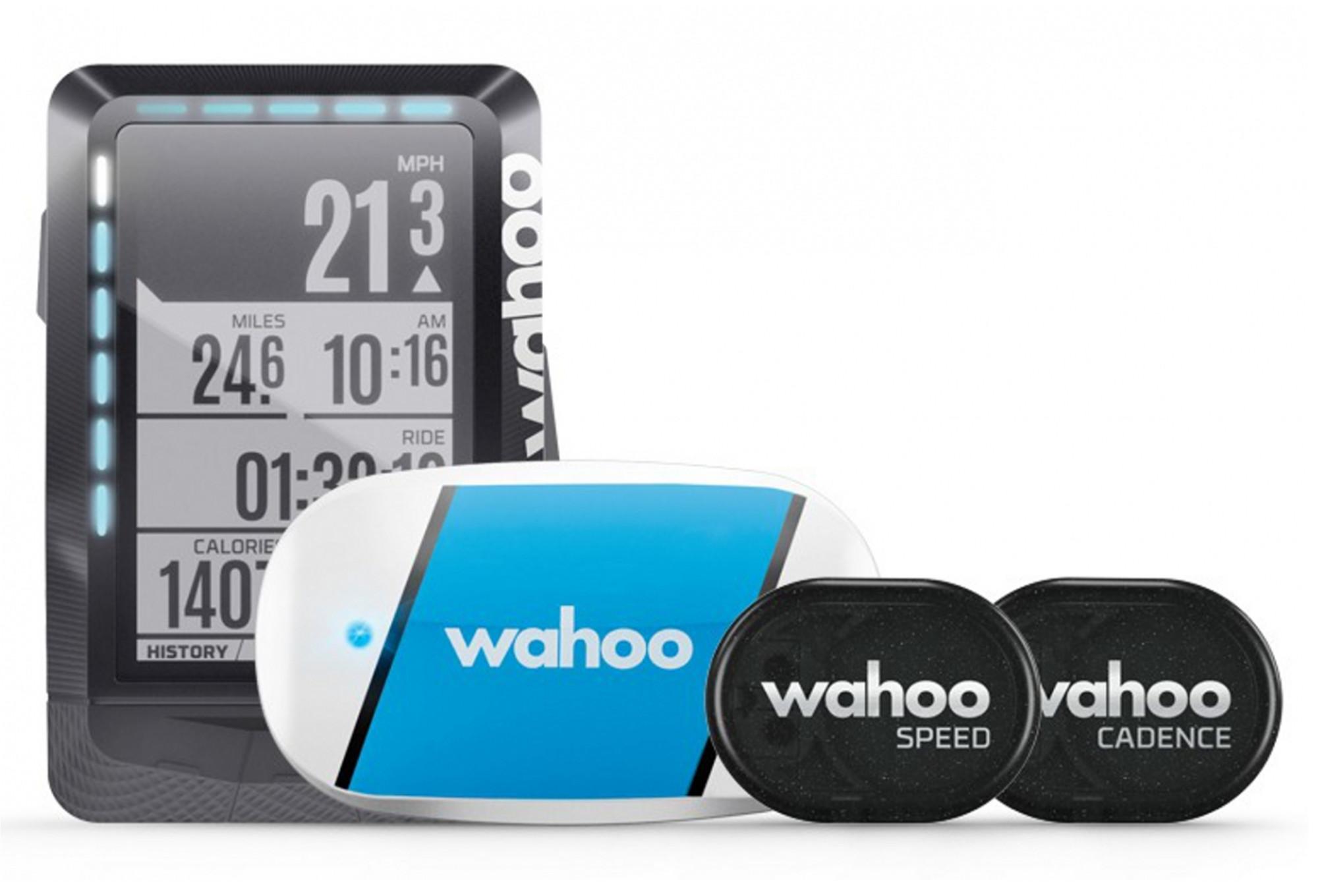 compteur gps wahoo fitness pack ceinture cardio capteurs. Black Bedroom Furniture Sets. Home Design Ideas