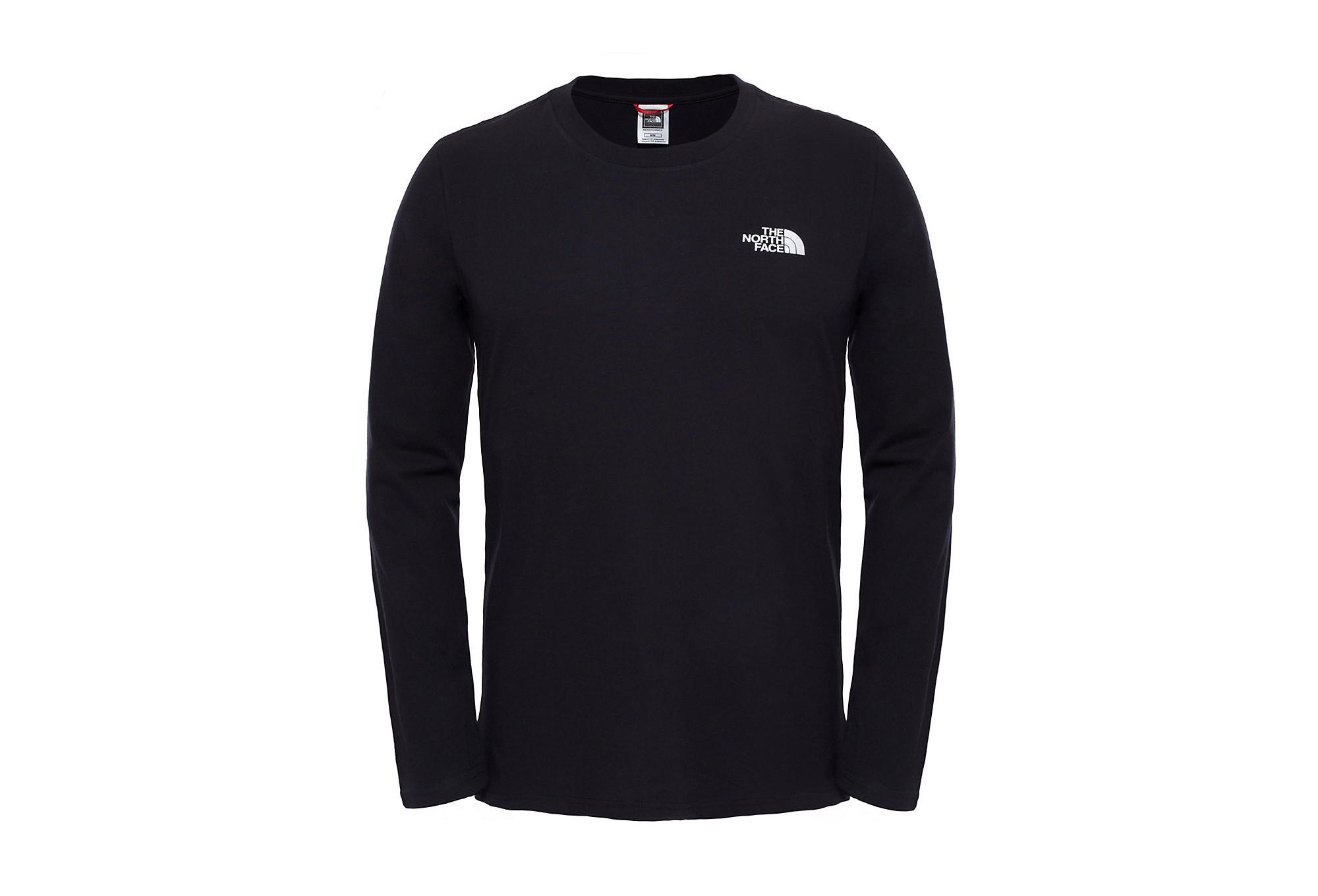 61a9cd888264d T-Shirt Long Sleeves THE NORTH FACE Easy Black   Alltricks.com