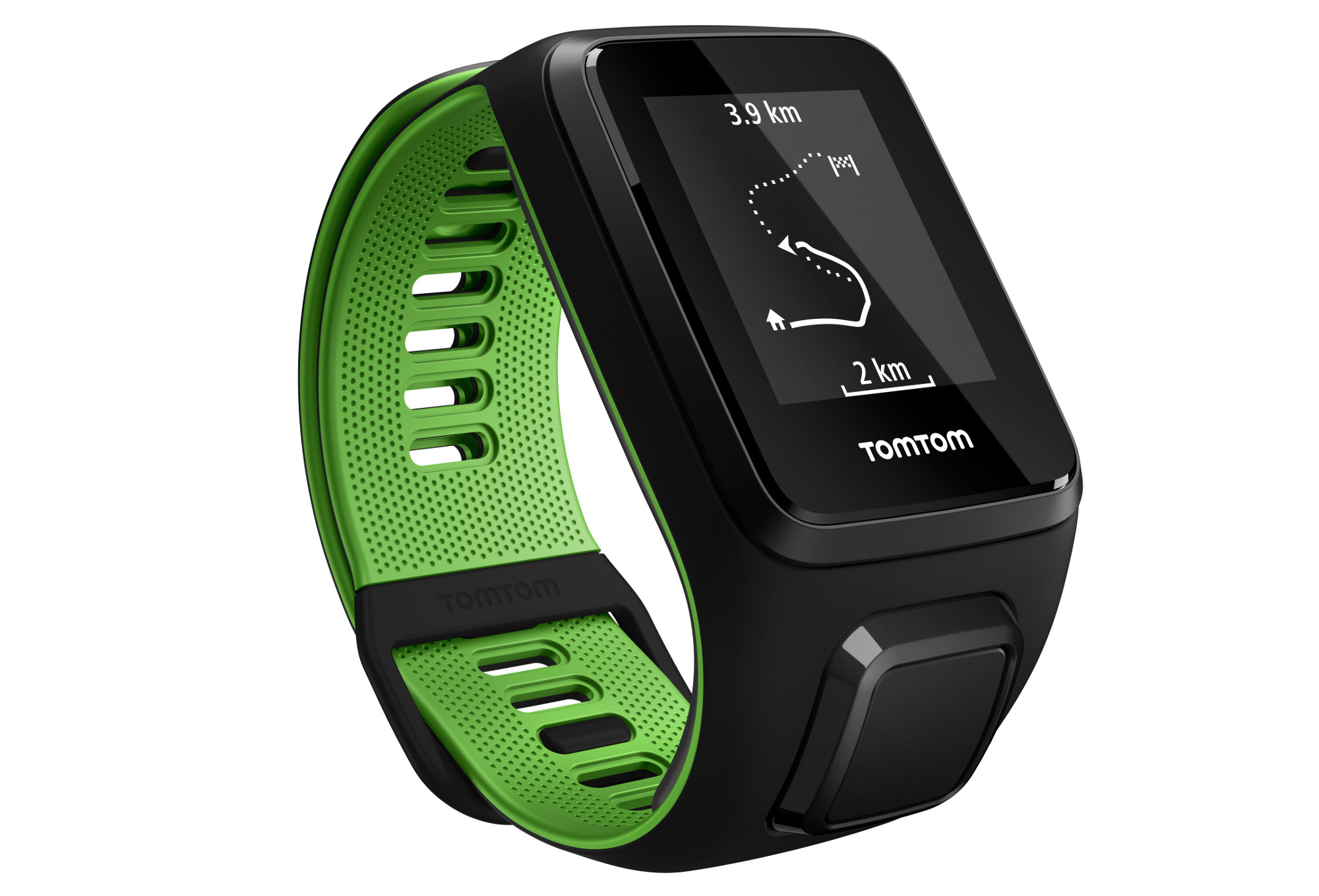 gps watch tomtom runner 3 cardio music headphones large straps black green. Black Bedroom Furniture Sets. Home Design Ideas
