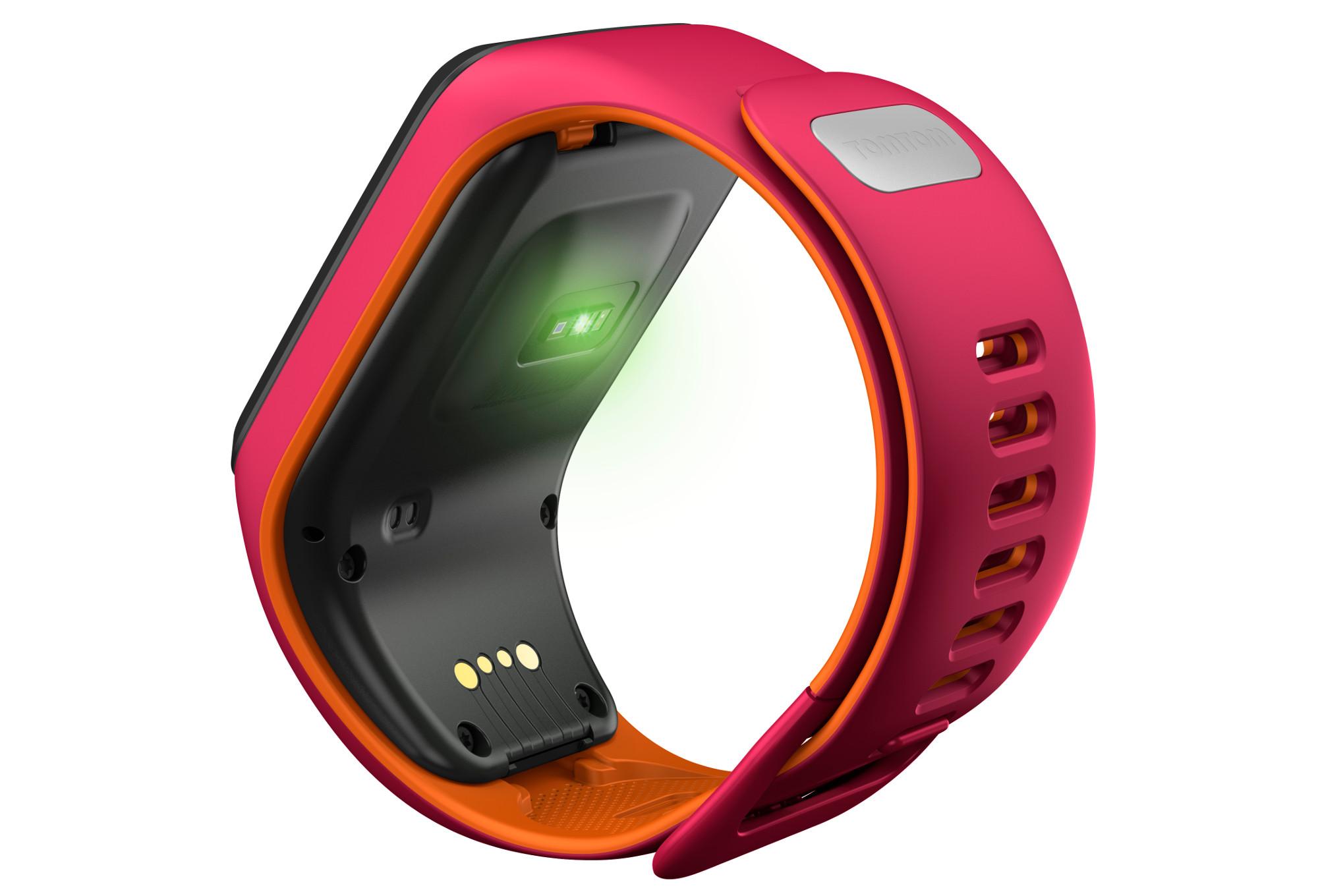 montre gps tomtom runner 3 cardio music bracelet fin orange rose. Black Bedroom Furniture Sets. Home Design Ideas