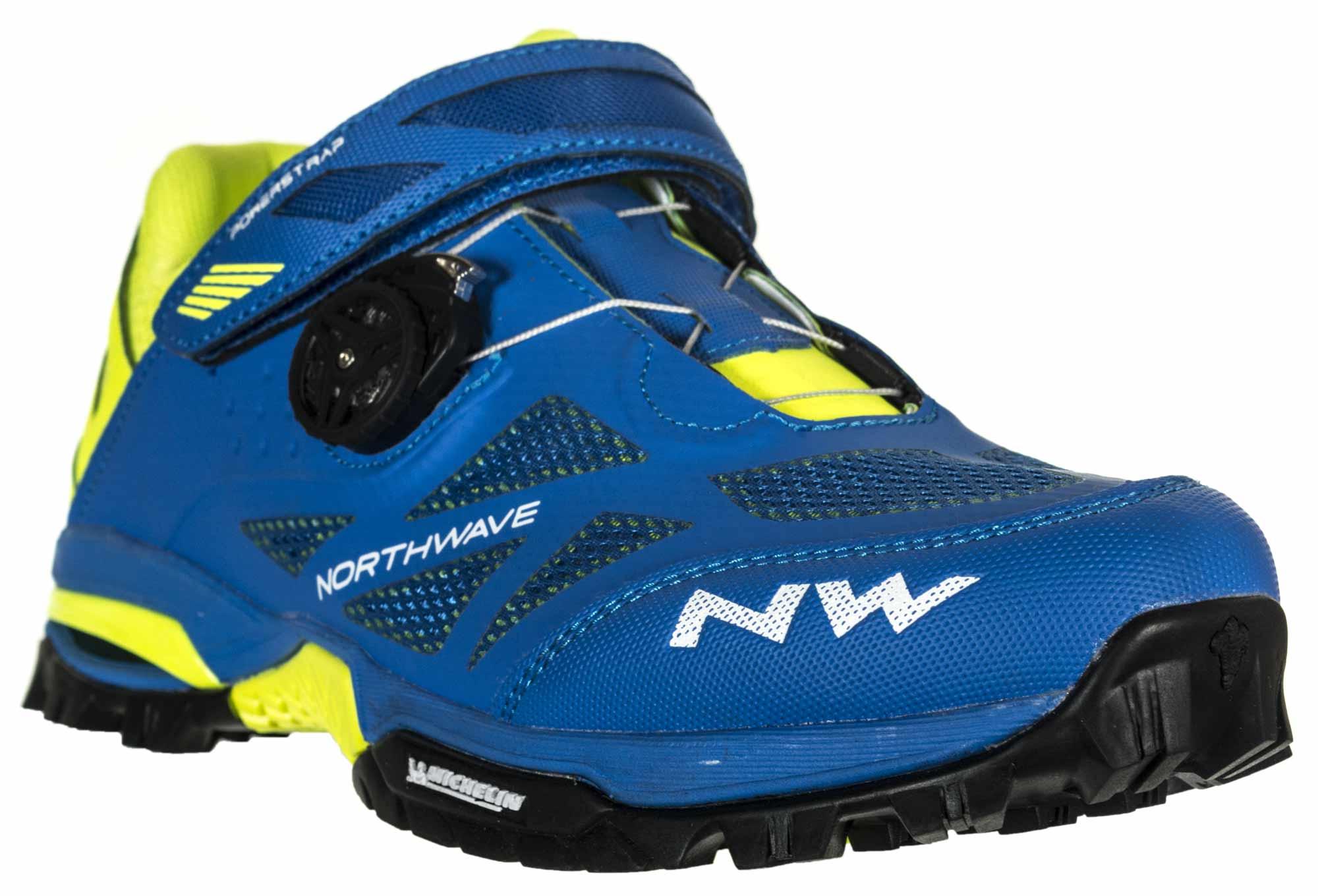 buy popular pretty nice various colors Paire de Chaussures VTT NORTHWAVE ENDURO MID Bleu Jaune
