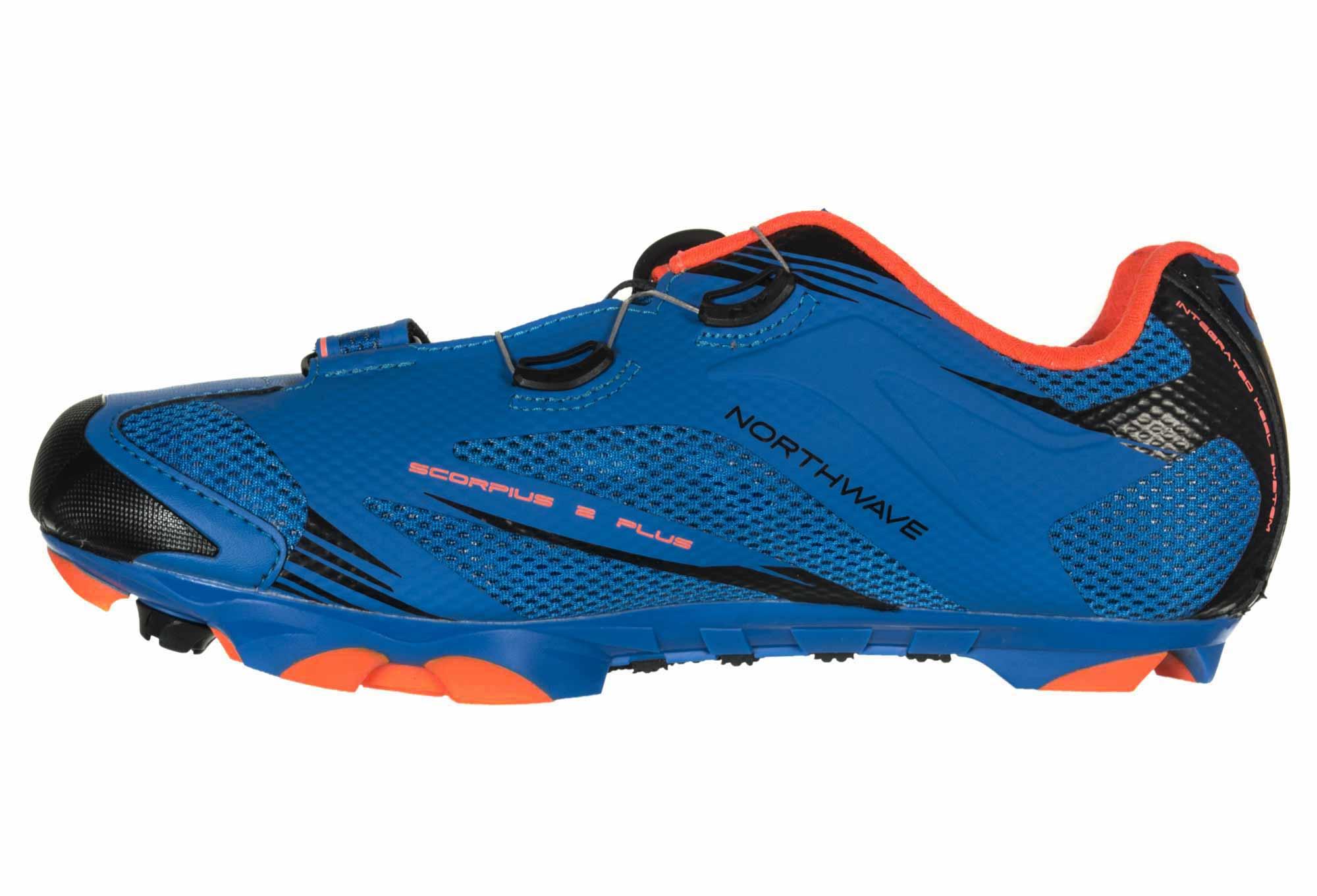 Mtb Plus Zapatillas Northwave Naranja 2 Scorpius Azul E29IHD