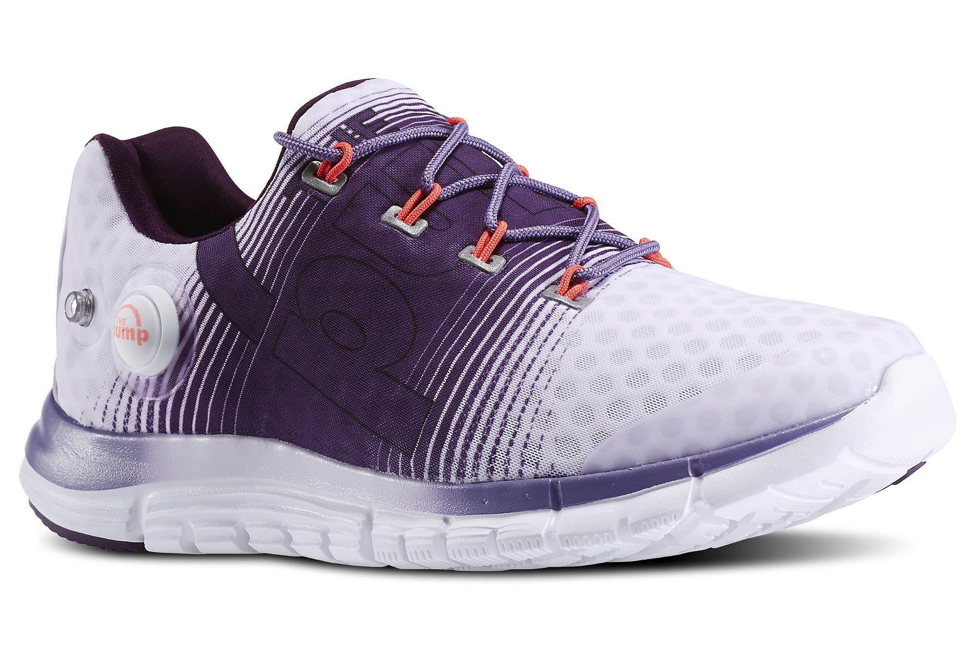 539e890bbf7552 Reebok ZPump Fusion Womens Running Shoes White Purple