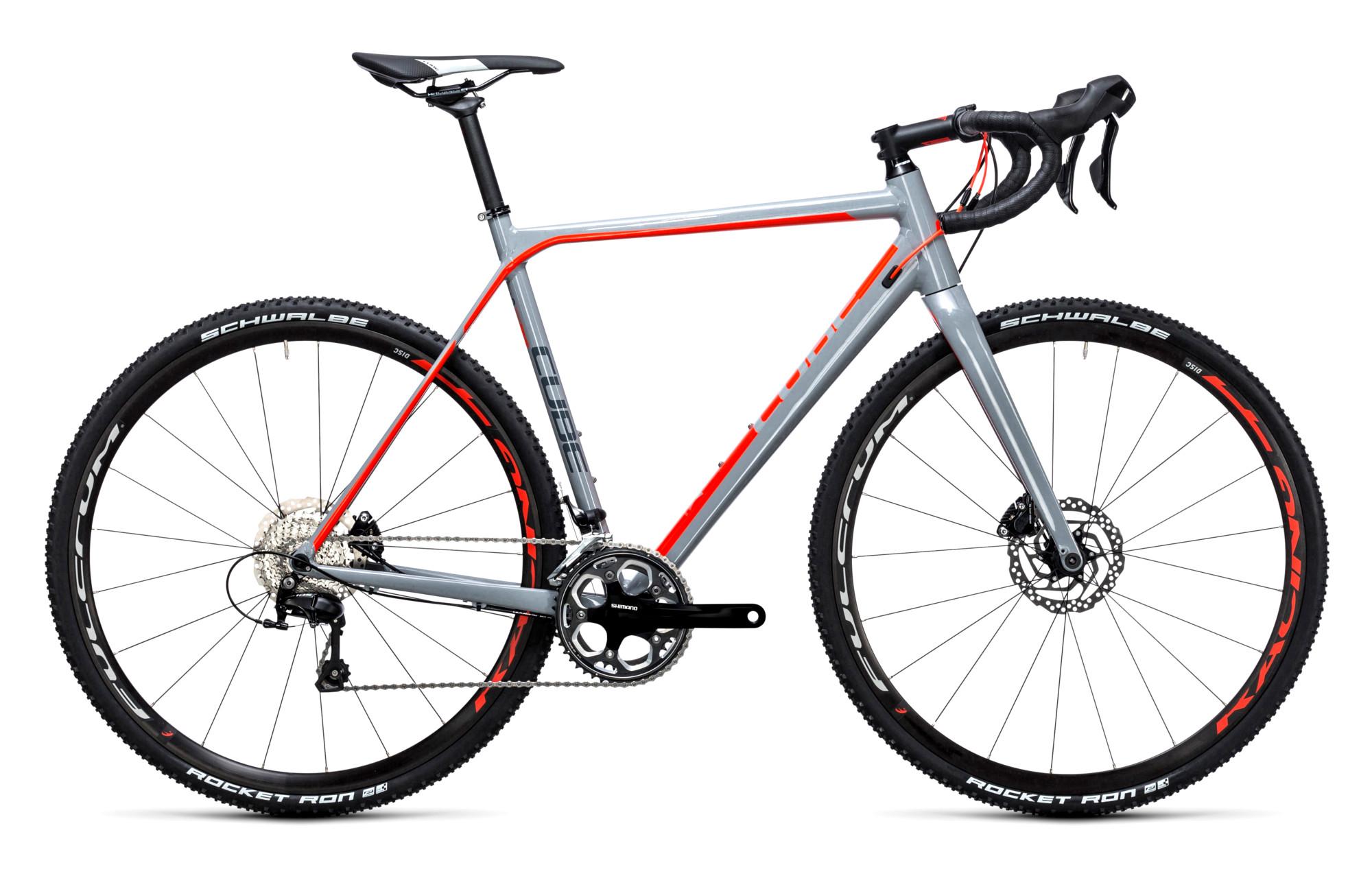 982c268483c CUBE CROSS RACE PRO Cyclocross Bike Grey Red 2017 | Alltricks.com