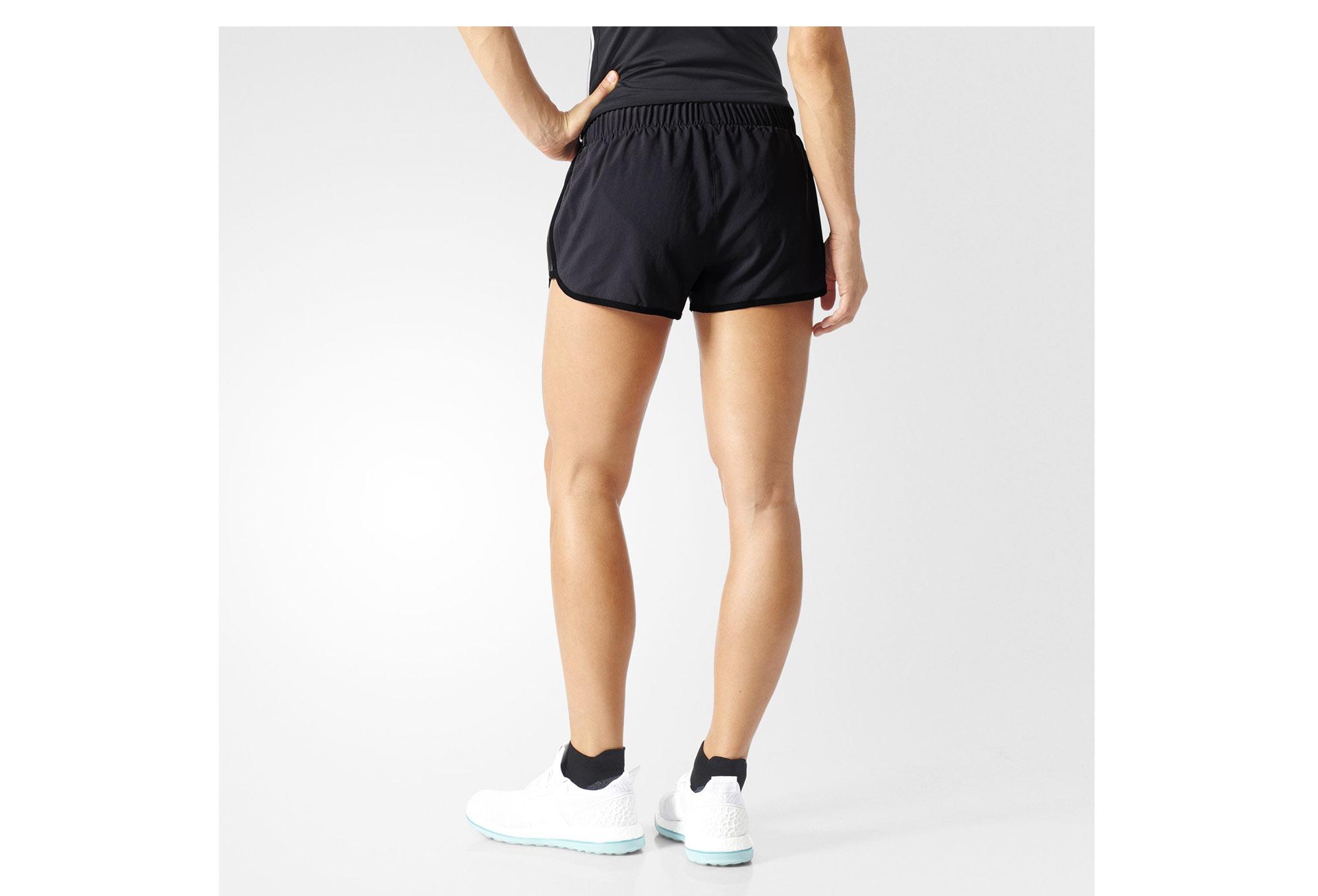 short femme adidas m10 3in gris noir. Black Bedroom Furniture Sets. Home Design Ideas