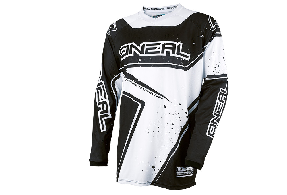 8f8e8e1c3 ONEAL ELEMENT RACEWEAR Youth Long Sleeves Jersey White Black 2017 ...
