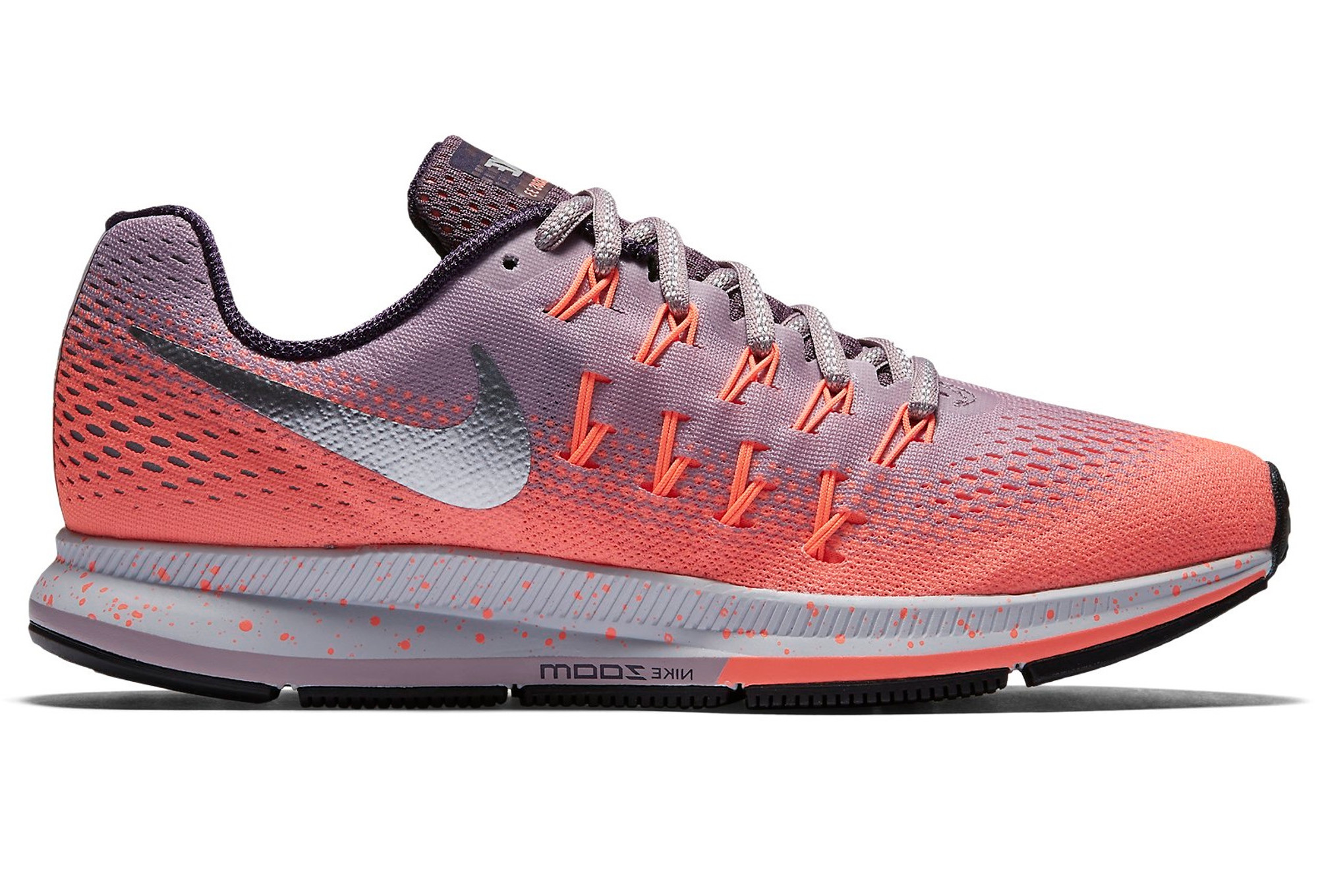 487d3be7aae29 Chaussures de Running Femme Nike AIR ZOOM PEGASUS 33 SHIELD Rose / Violet
