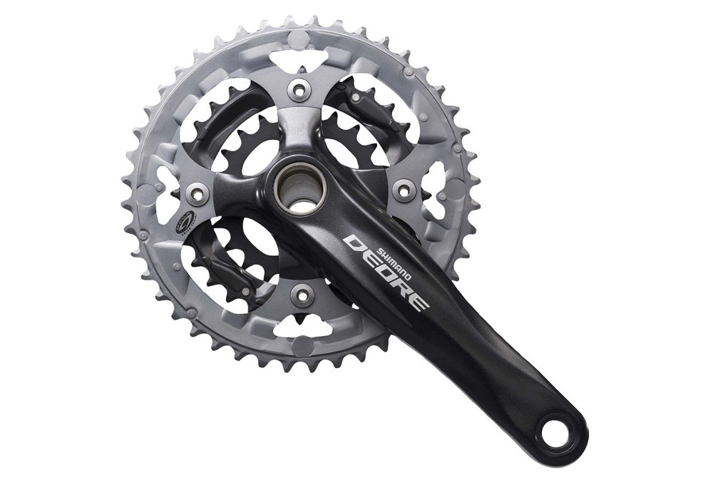 a07aa0cd922 Shimano Deore FC-M590 9 Speed Triple Chainset - 44/32/22 Black 175mm |  Alltricks.com