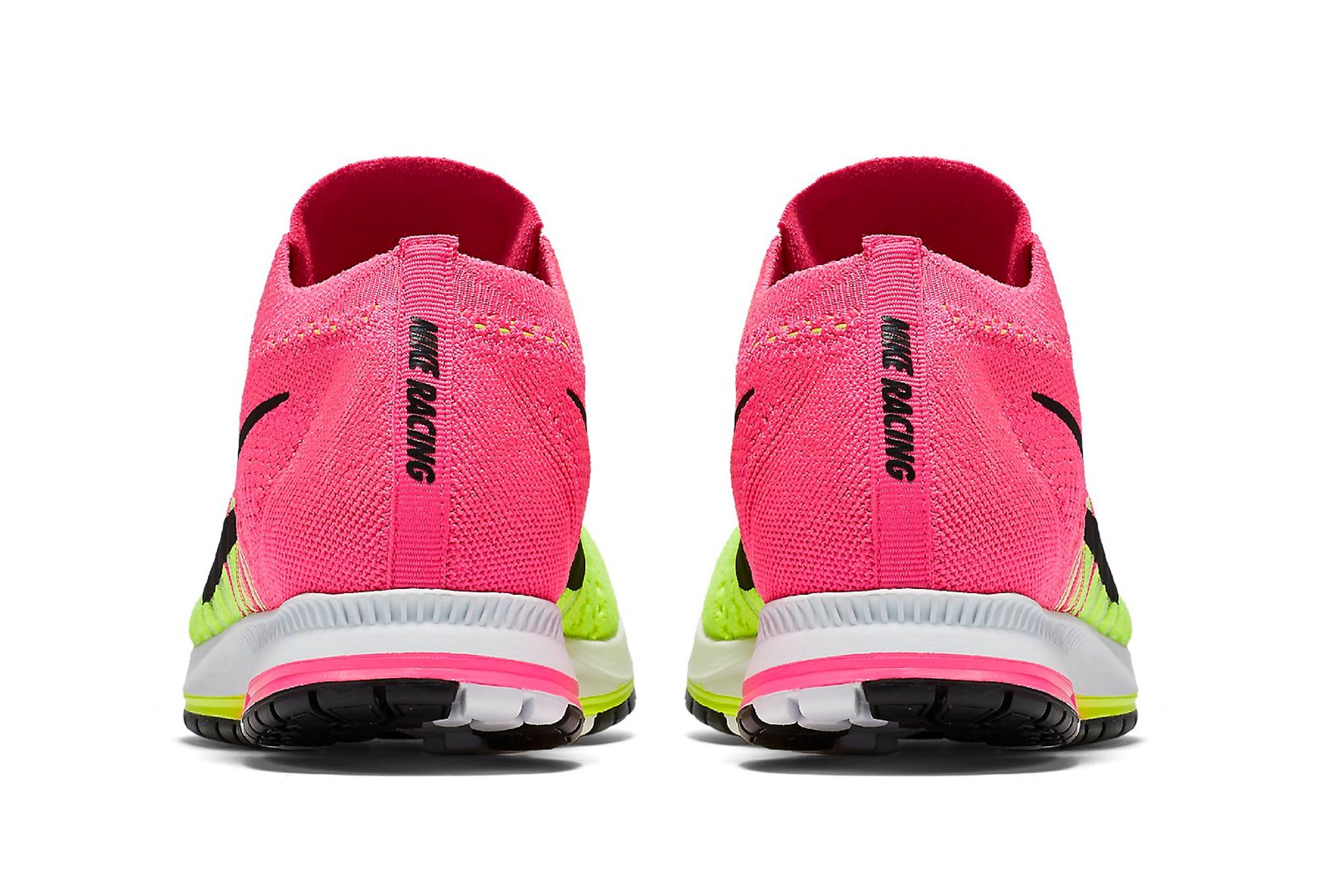 Chaussures de Triathlon Nike Air Zoom Flyknit Streak Jaune   Rose