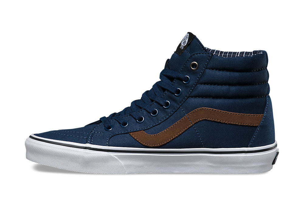 vans sk8hi reissue shoes blue brown alltrickscom