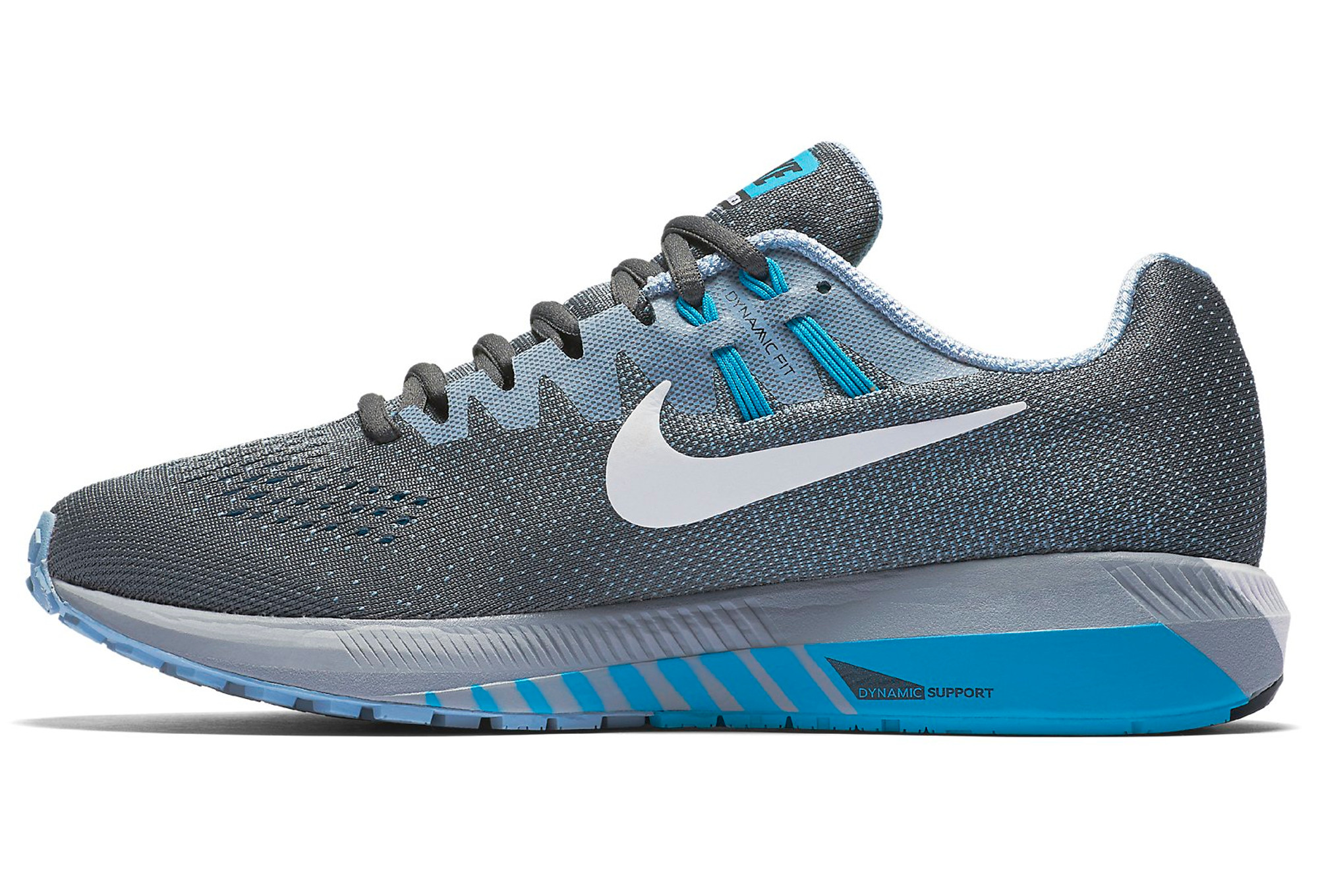 NIKE AIR ZOOM STRUCTURE 20 Gris Bleu Homme