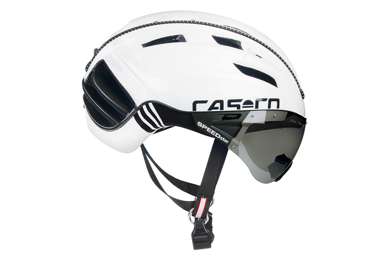 casque aero casco speedster avec visi re blanc noir. Black Bedroom Furniture Sets. Home Design Ideas