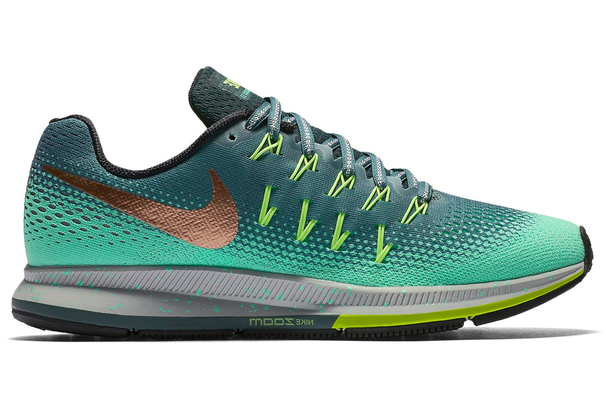 plus de photos c9576 a2cb0 NIKE AIR ZOOM PEGASUS 33 SHIELD Green Women