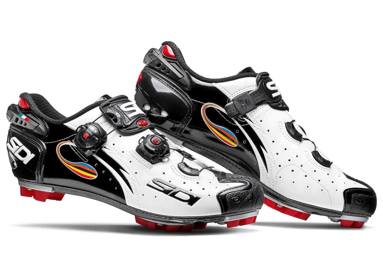 site autorisé vendu dans le monde entier sélectionner pour véritable Chaussures VTT Sidi Drako Carbon SRS Blanc Noir