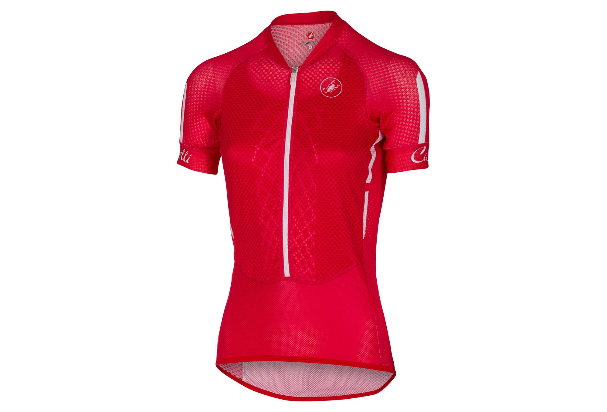 CASTELLI CLIMBER S 2.0 Women s Short Sleeves Jersey Red White Black ... 786bab9b1