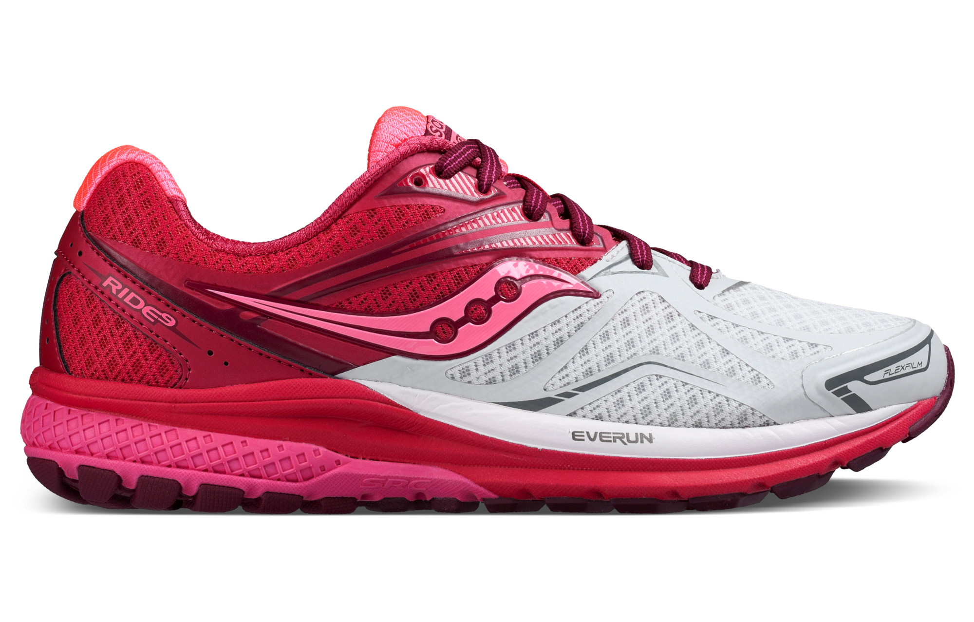 be04f43c973 Chaussures de Running Femme Saucony RIDE 9 Blanc   Rose