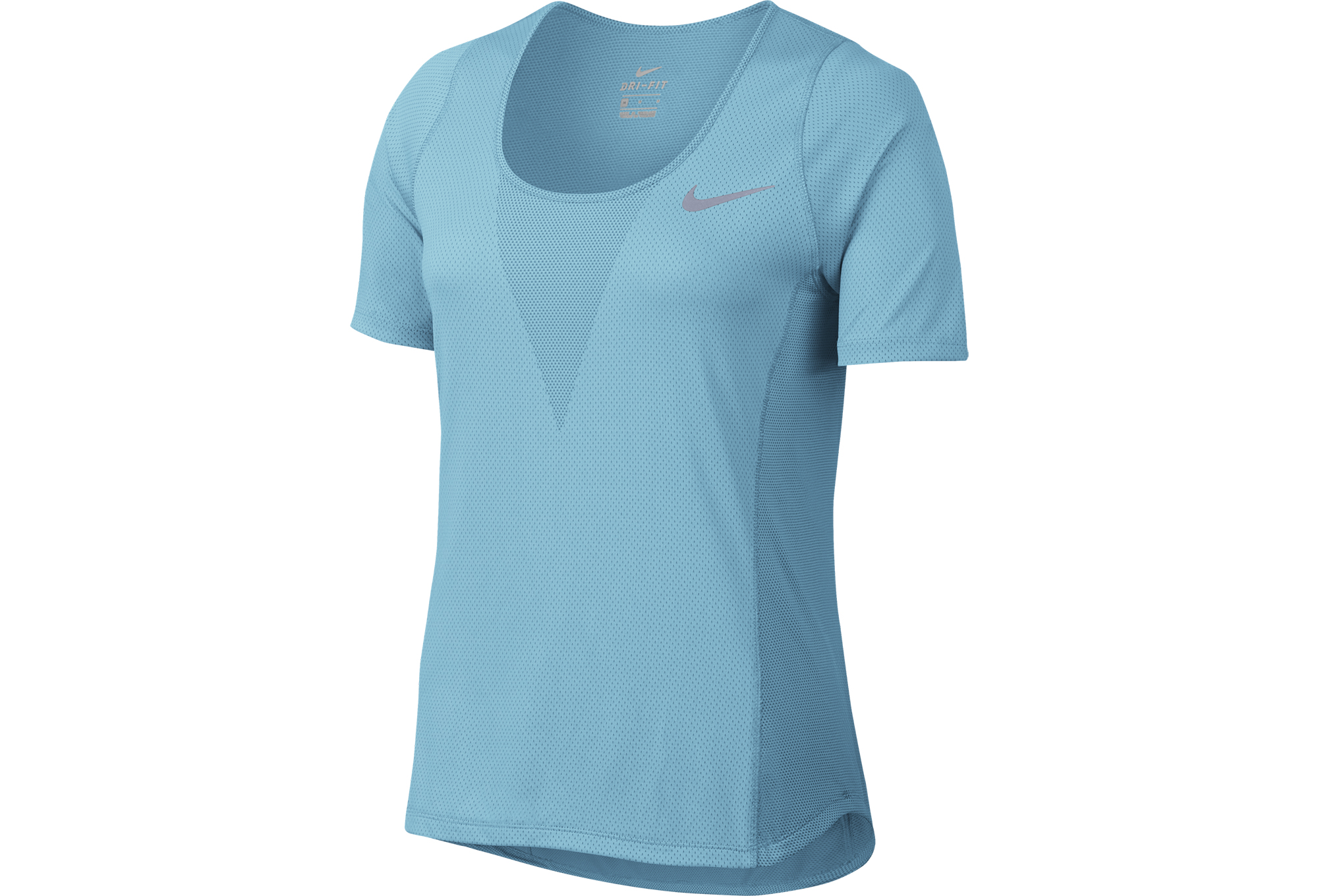 Maillot Manches Courtes Femme NIKE ZONAL COOLING RELAY Bleu