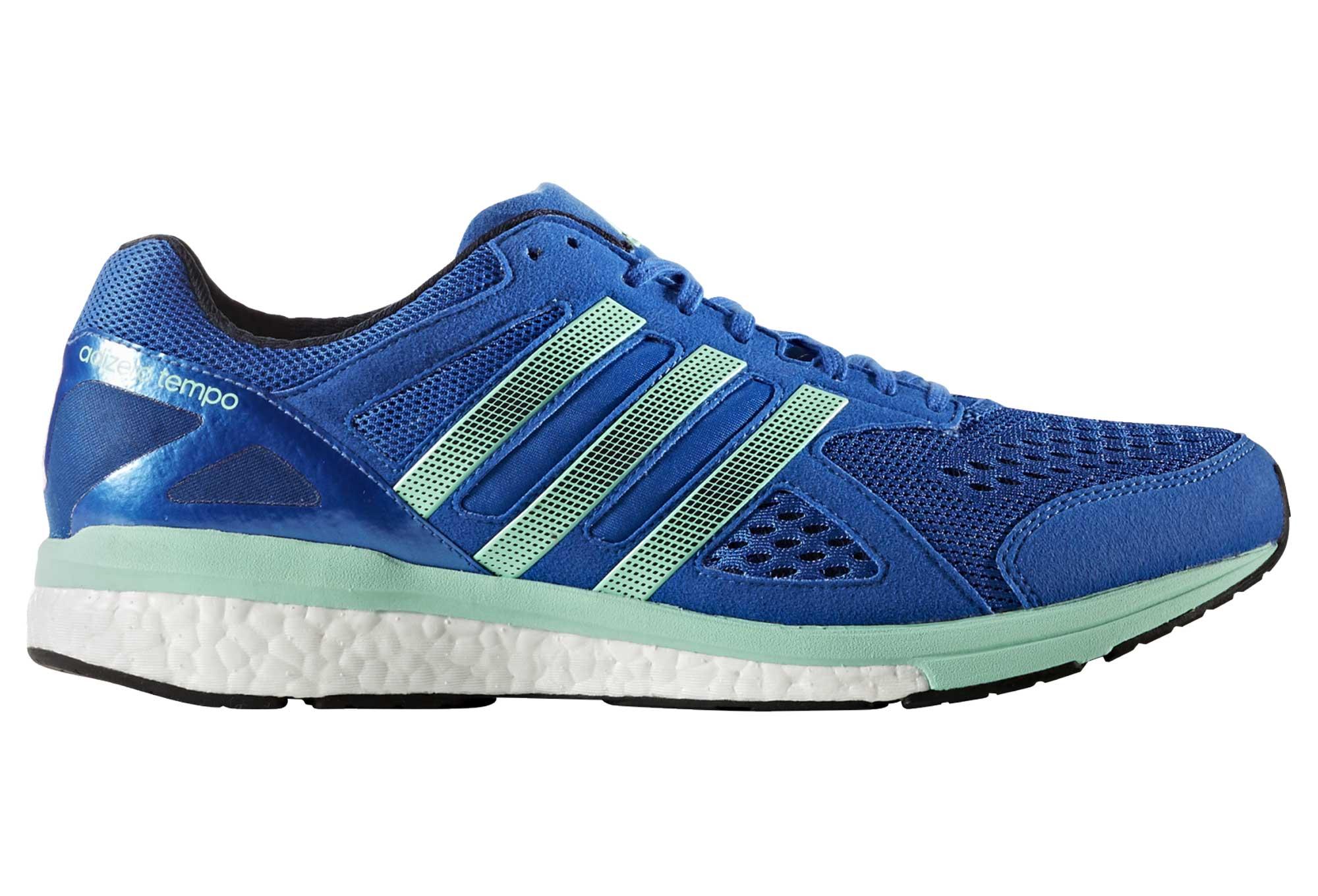 d698c1e38be adidas running adizero TEMPO 8 Blue Green Men