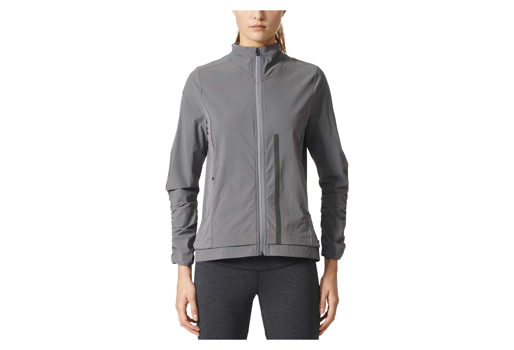 Veste Coupe Vent Impermeable Femme Adidas Running Ultra Energy Gris