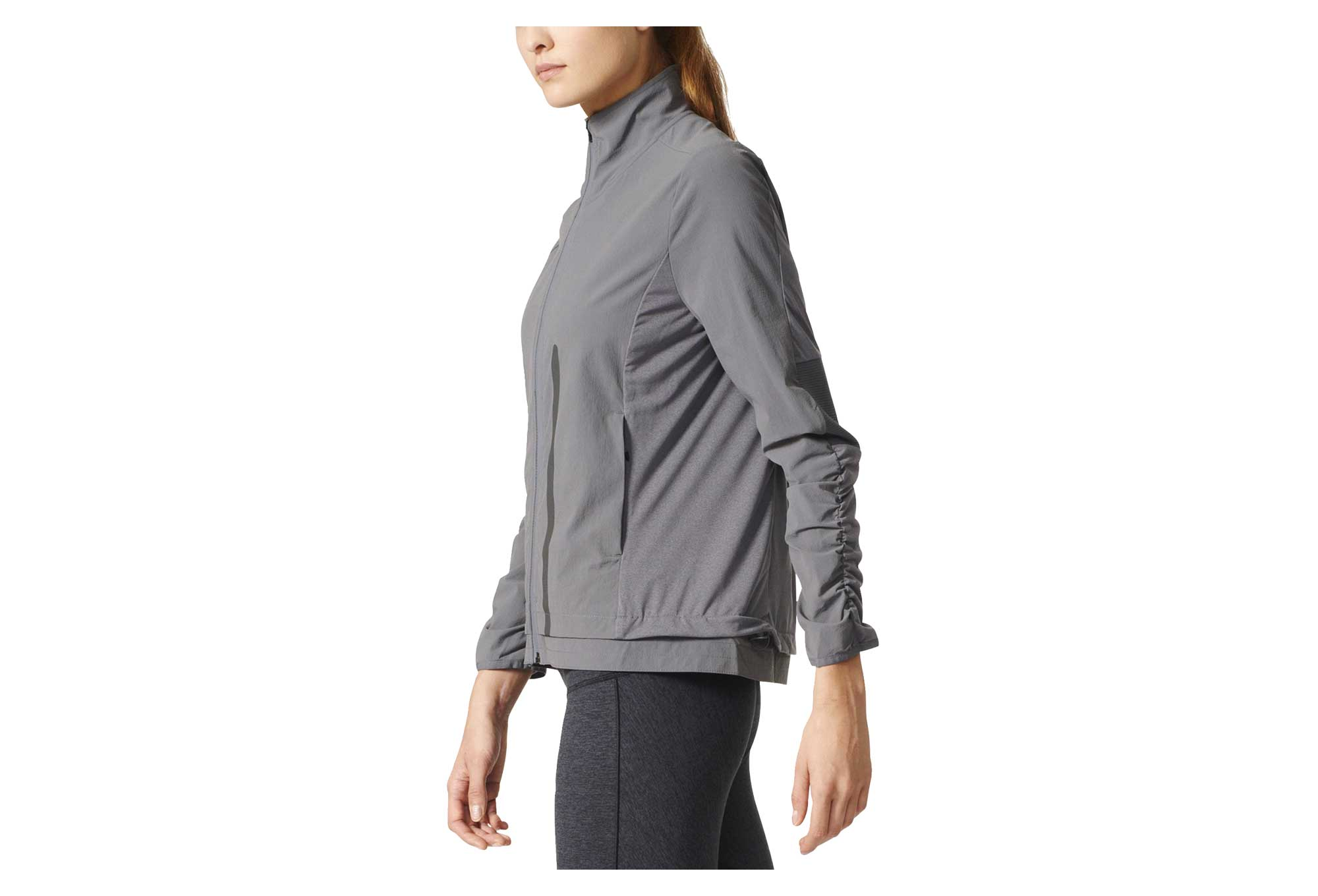 veste coupe vent imperm able femme adidas running ultra energy gris. Black Bedroom Furniture Sets. Home Design Ideas