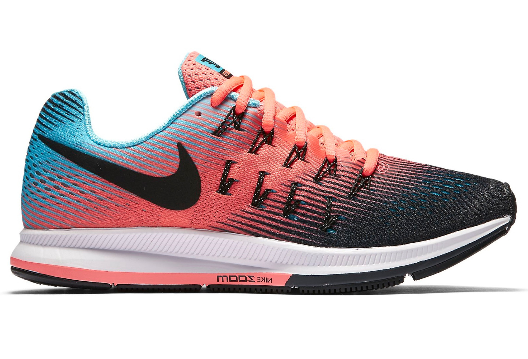 on wholesale get cheap retail prices Nike AIR ZOOM PEGASUS 33 Bleu Rose Noir Femme