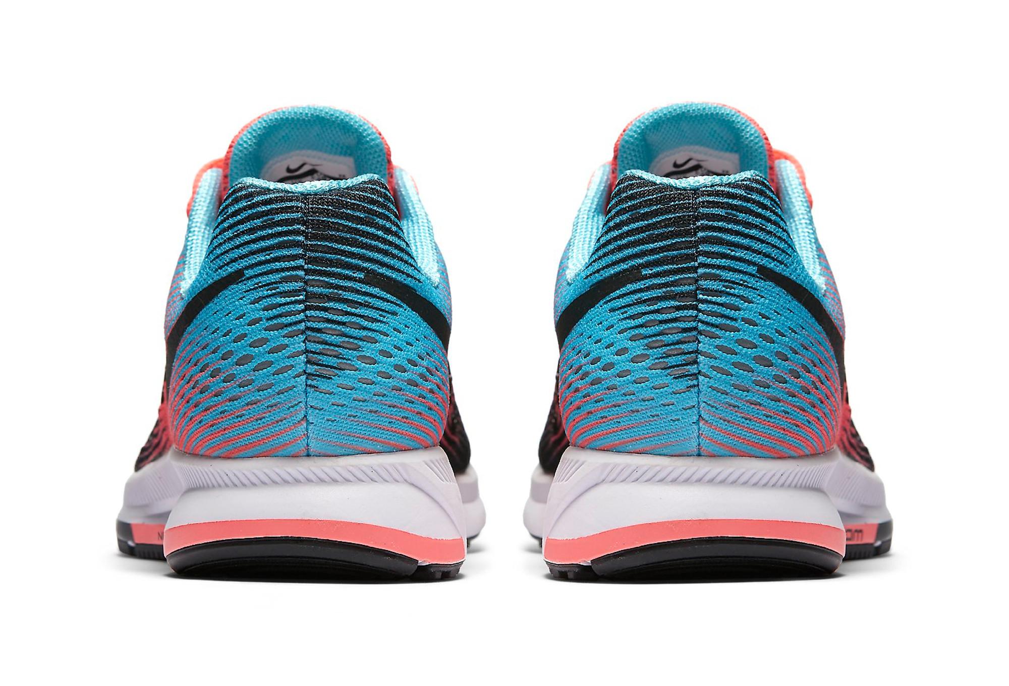 Chaussures de Running Femme Nike AIR ZOOM PEGASUS 33 Noir / Bleu / Rose