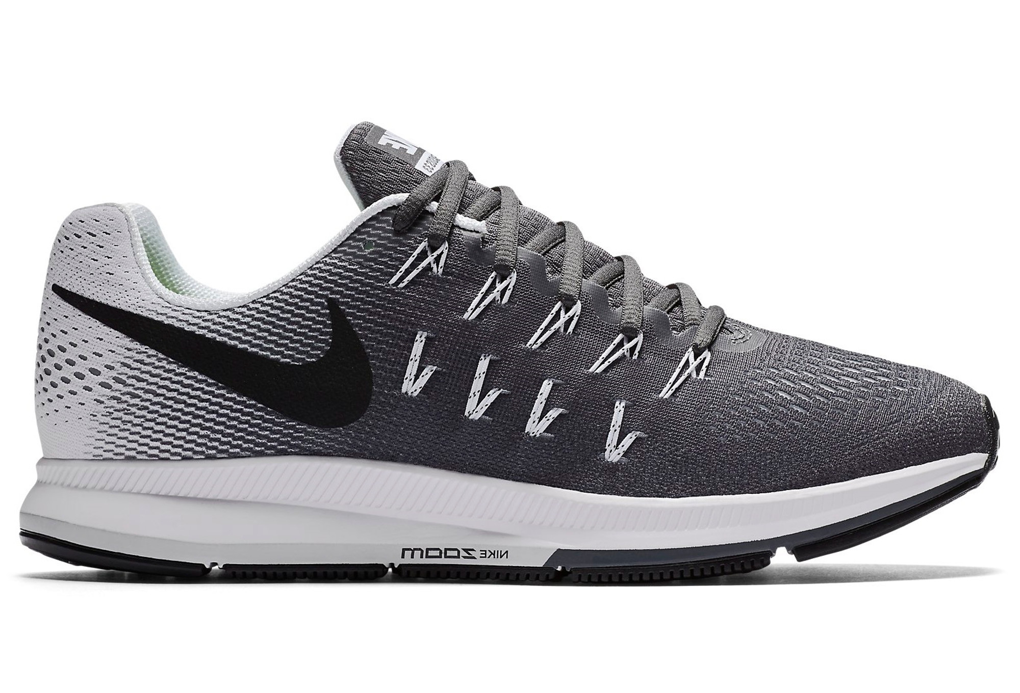 more photos f043e ccb7a Zapatillas Nike AIR ZOOM PEGASUS 33 para Mujer Gris Blanco