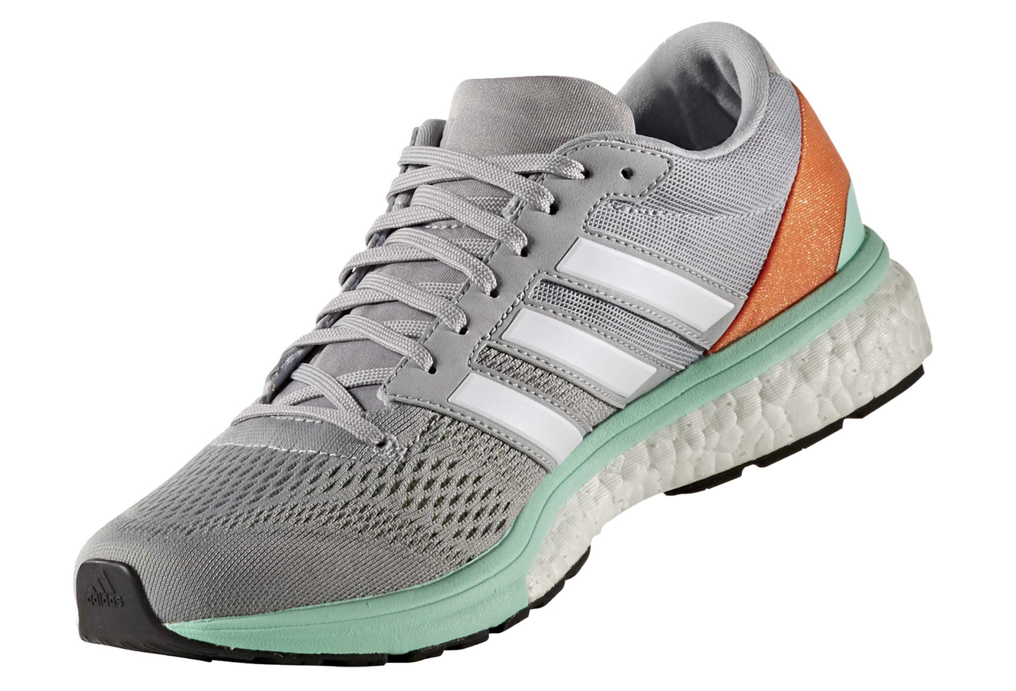 04db8eb20 adidas running adizero BOSTON 6 Grey Green Orange Women