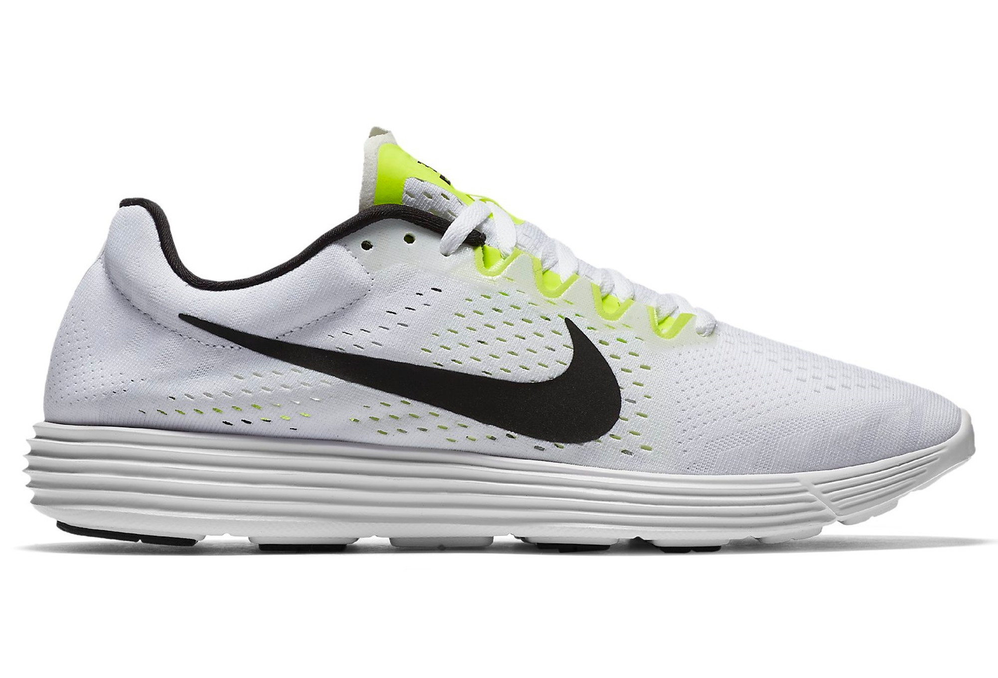 999b30a08571 NIKE LUNARACER 4 White Black Yellow Unisex