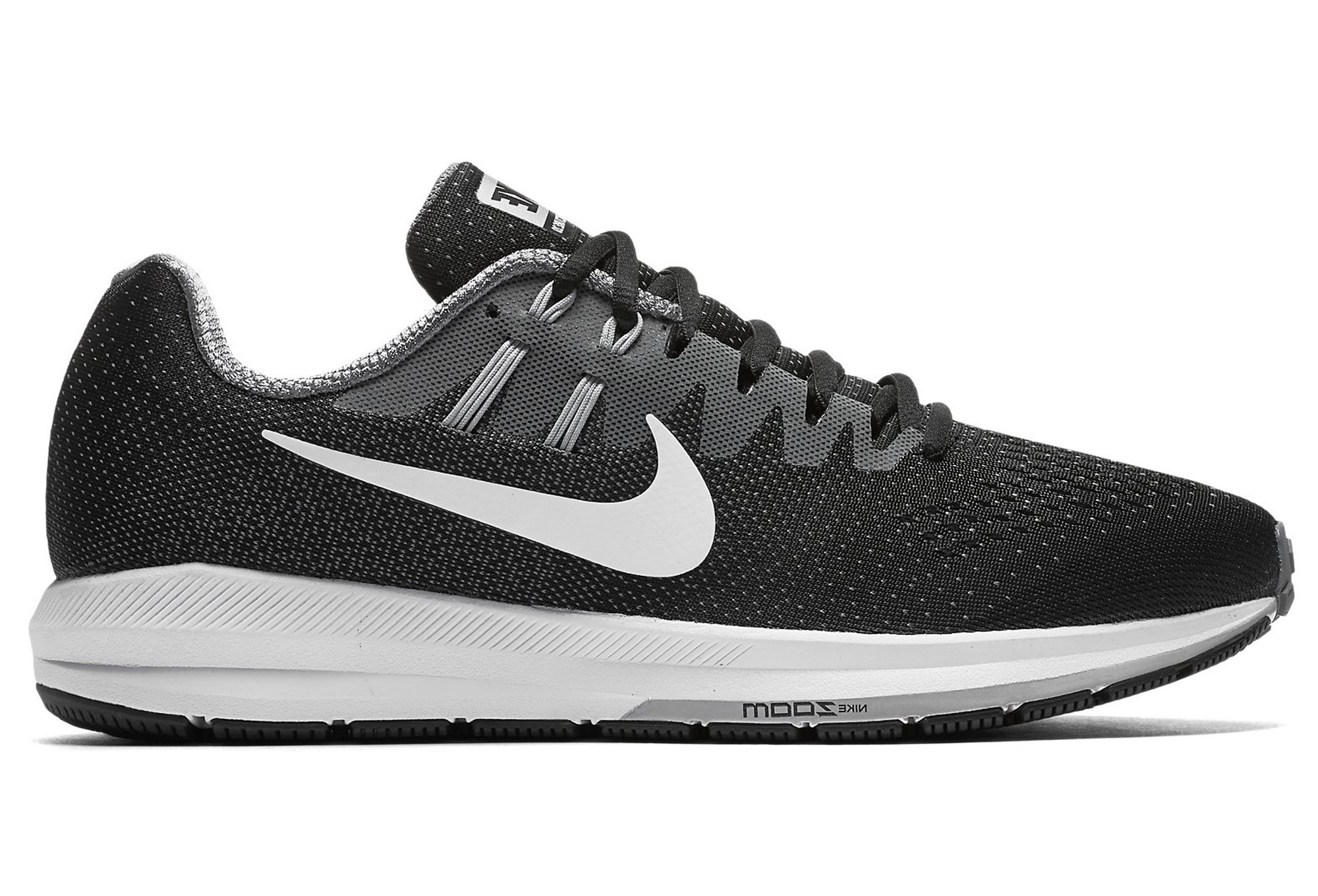 new style edb69 c45dc NIKE AIR ZOOM STRUCTURE 20 Black White Grey Women
