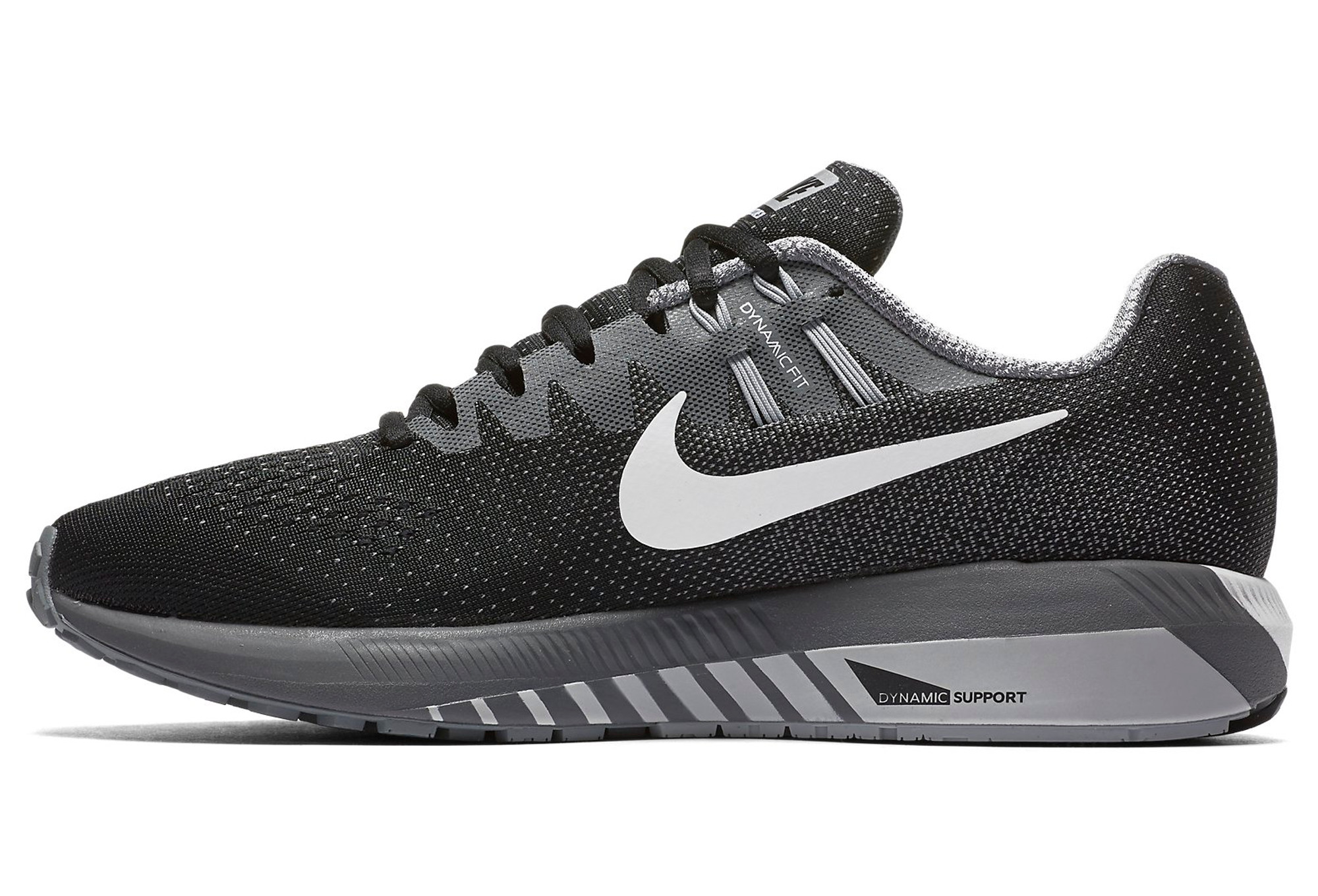 bd6d667e674f NIKE AIR ZOOM STRUCTURE 20 Black White Grey Women