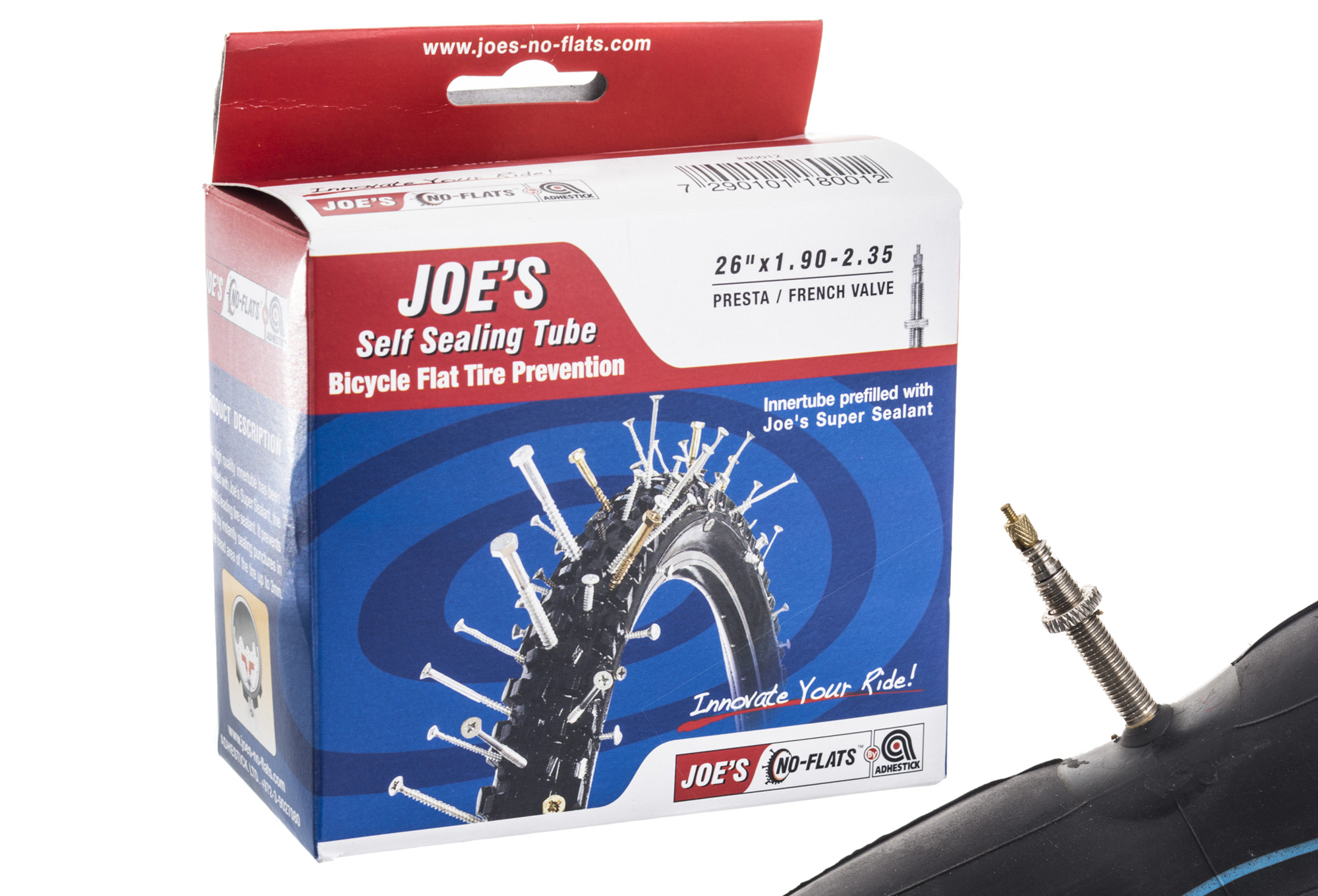 No flats joe s inner tube presta valve for Chambre a air 26x1 5