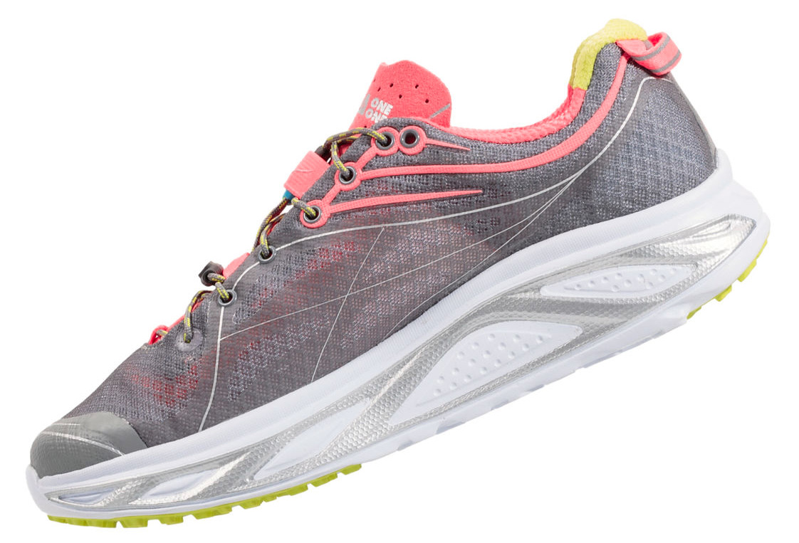 HOKA HUAKA Running Women's Shoes Grey Pink