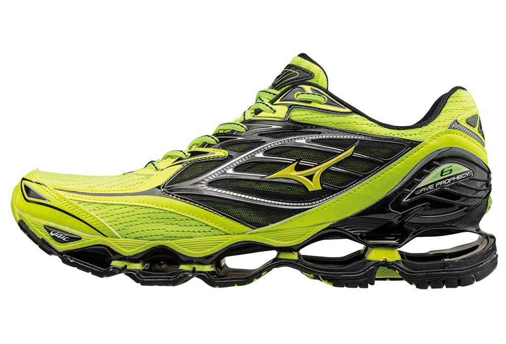 66e680857474d Chaussures de Running Mizuno Wave Prophecy 6 Jaune / Noir | Alltricks.fr