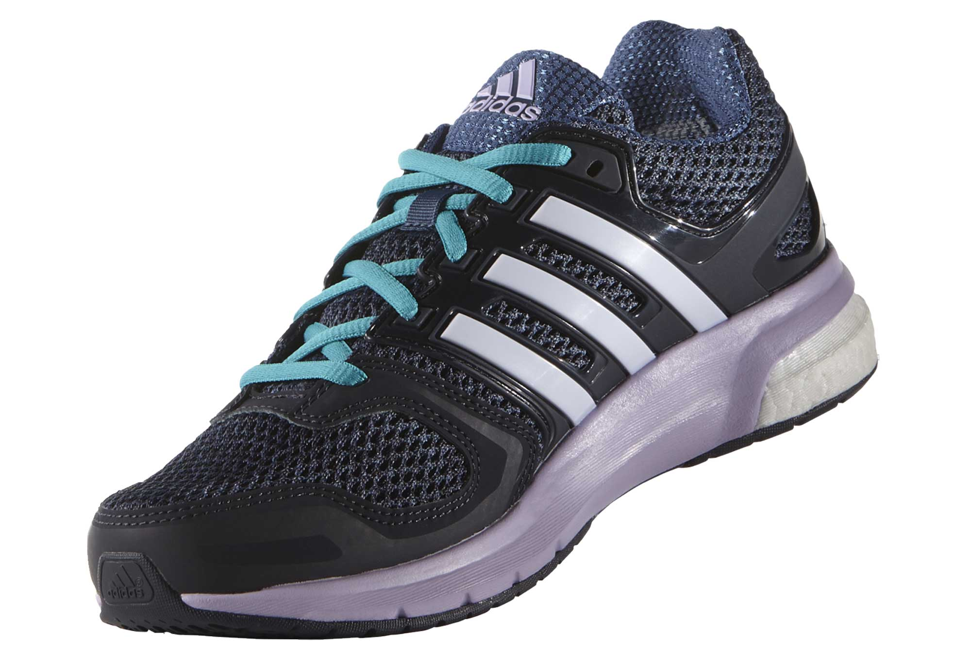 adidas questar boost pair of shoes purple blue women. Black Bedroom Furniture Sets. Home Design Ideas