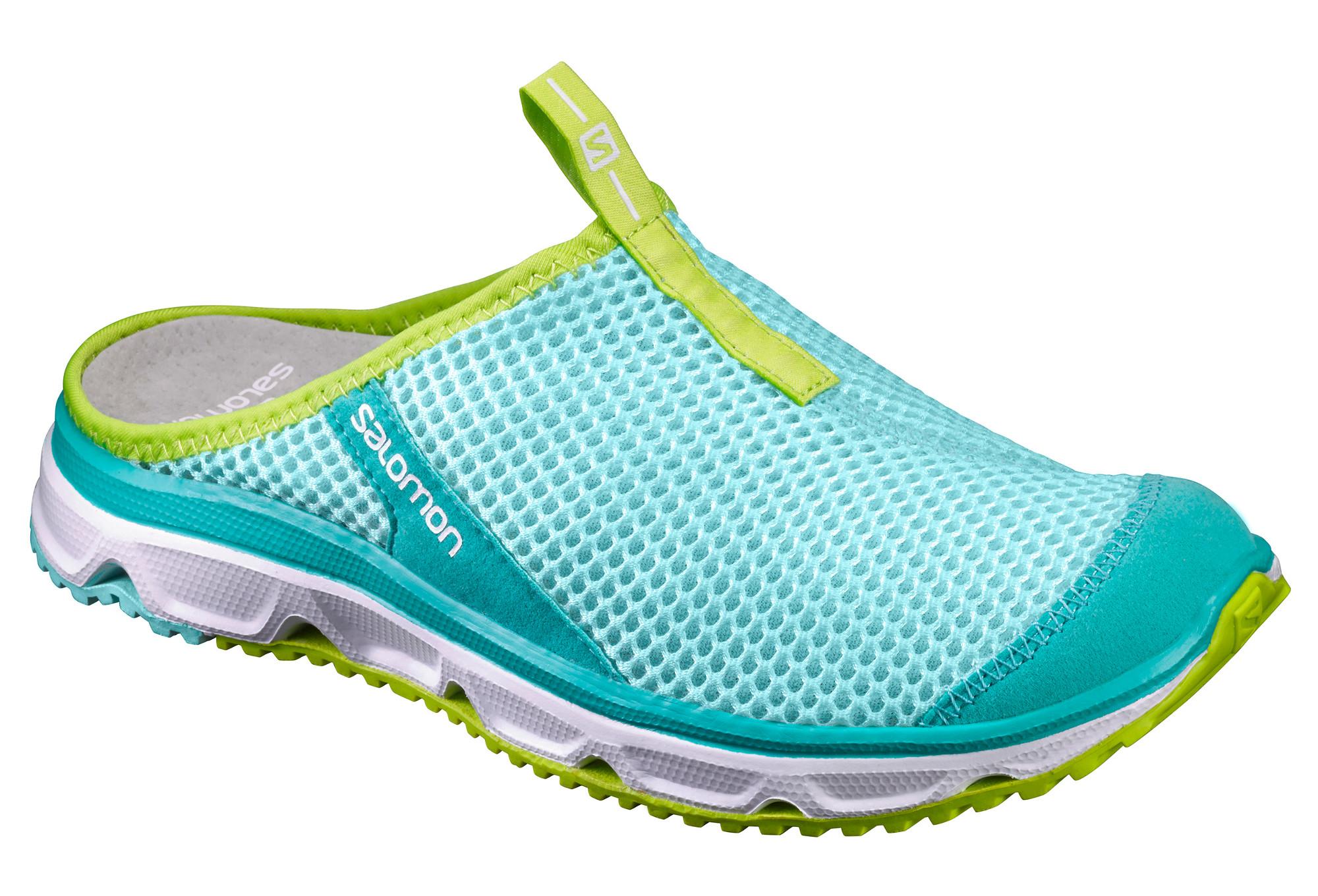 Chaussures de Récupération SALOMON RX SLIDE 3.0 Femme Bleu Vert