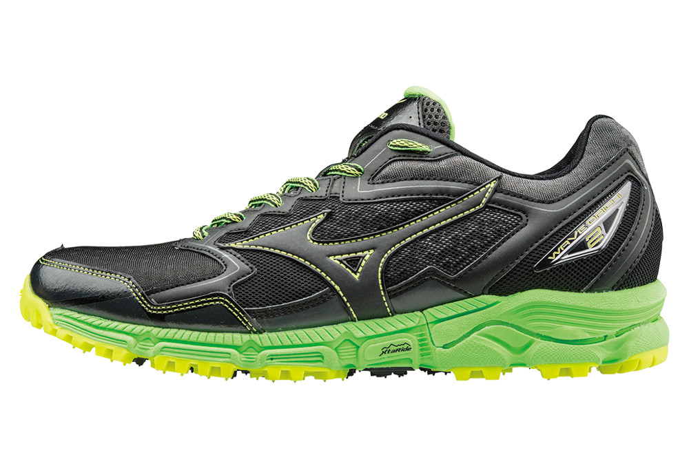 02088f563e9 Mizuno Wave Daichi 2 Black Green Man