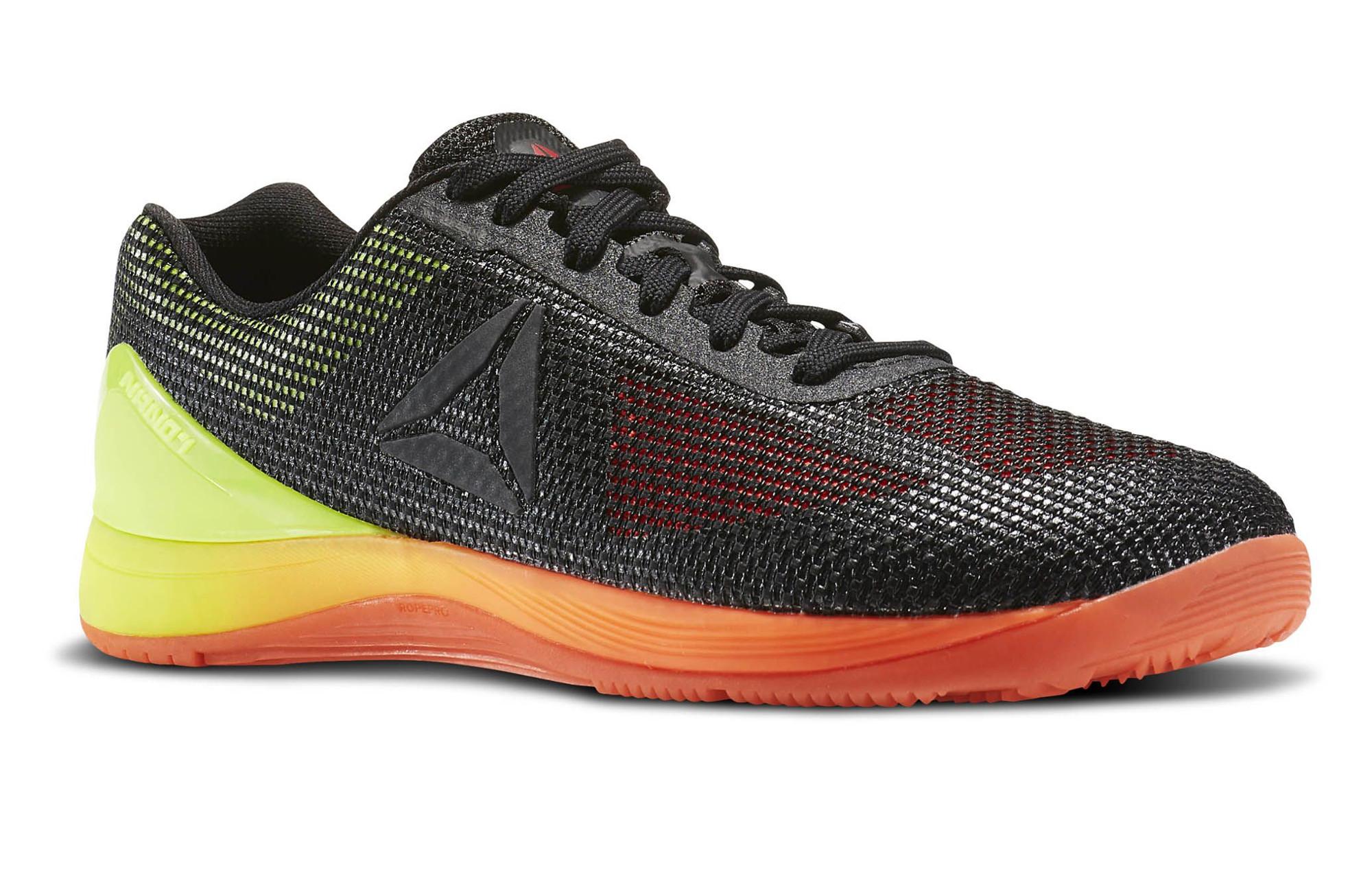 8a4683990588e Chaussures de Cross Training Reebok Crossfit Nano 7.0 Noir   Jaune   Orange