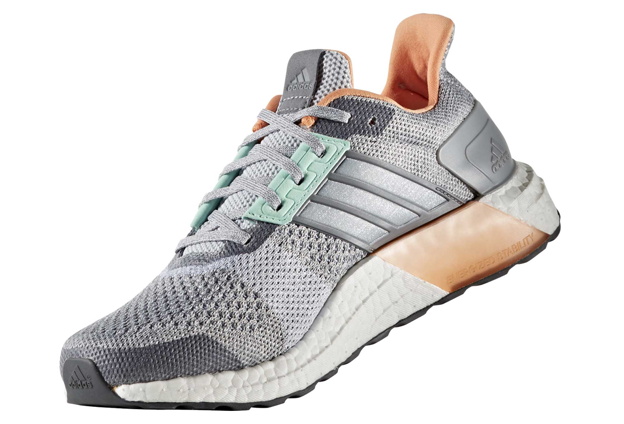 567f2e44f adidas running ULTRA BOOST ST Grey Green Orange Women