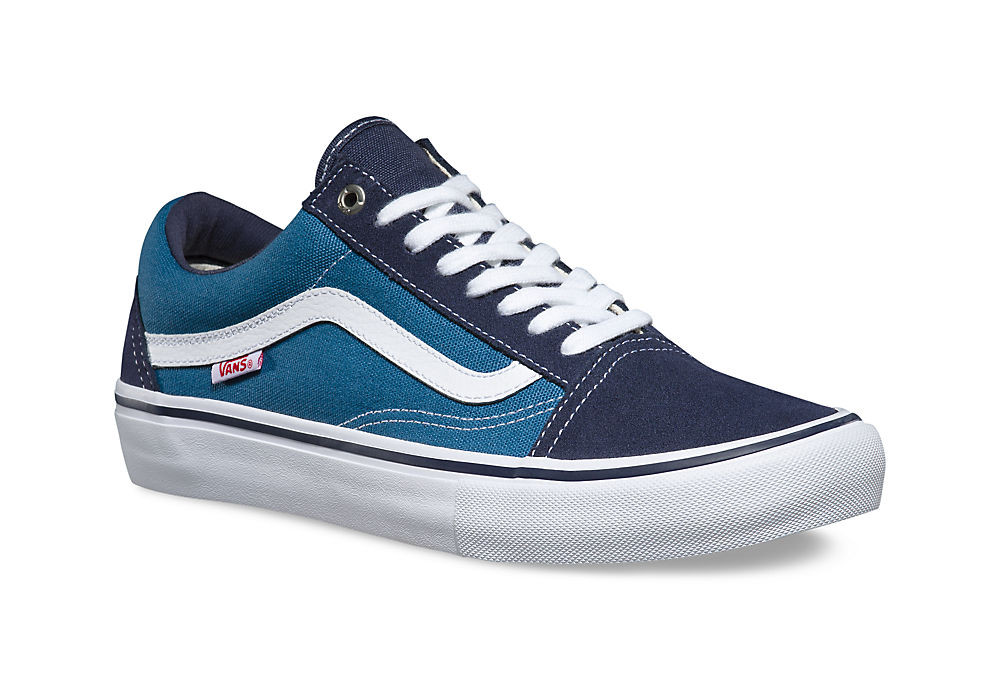 chaussures vans old skool pro bleu blanc. Black Bedroom Furniture Sets. Home Design Ideas