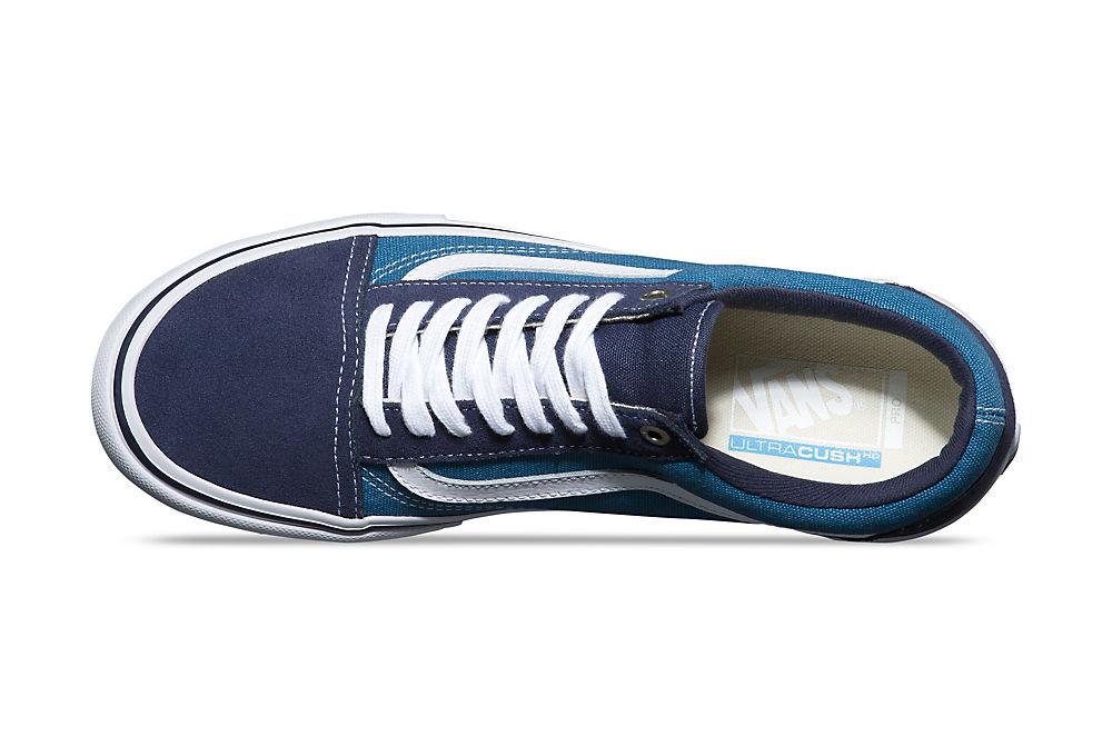 chaussures vans old skool pro bleu blanc. Black Bedroom Furniture Sets. Home Design Ideas