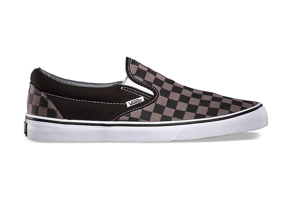 Zapatillas Vans Slip On Negro Gris