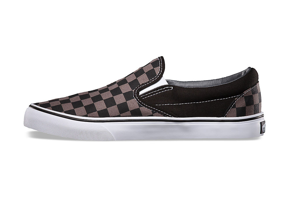 chaussures vans slip on noir gris. Black Bedroom Furniture Sets. Home Design Ideas
