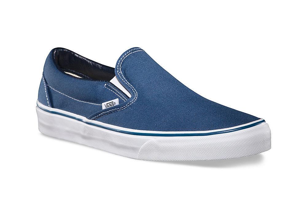vans bleu slip on