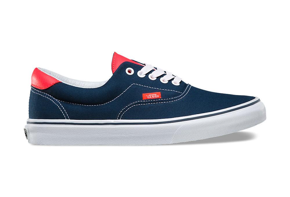 vans bleu et rouge