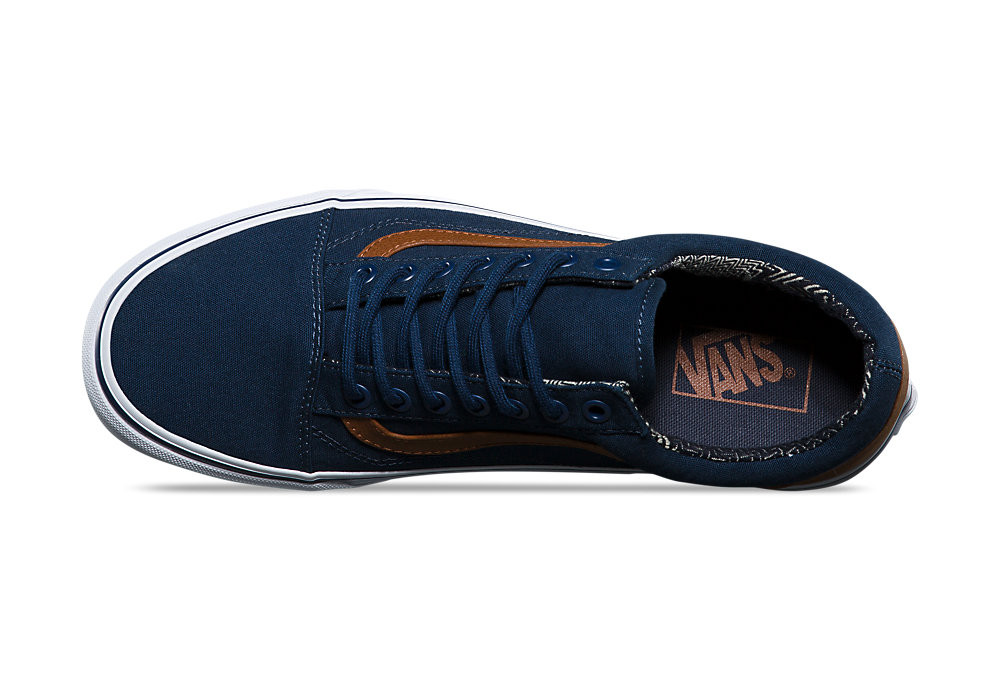 vans old skool shoes blue brown alltrickscom