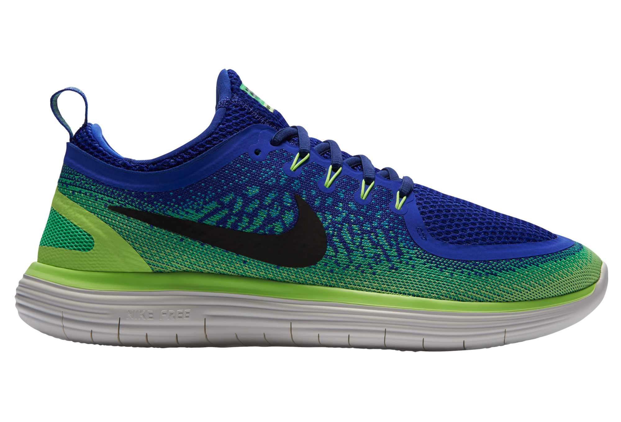 meet fa595 4c6ed Chaussures de Running Nike FREE RUN DISTANCE 2 Bleu   Vert